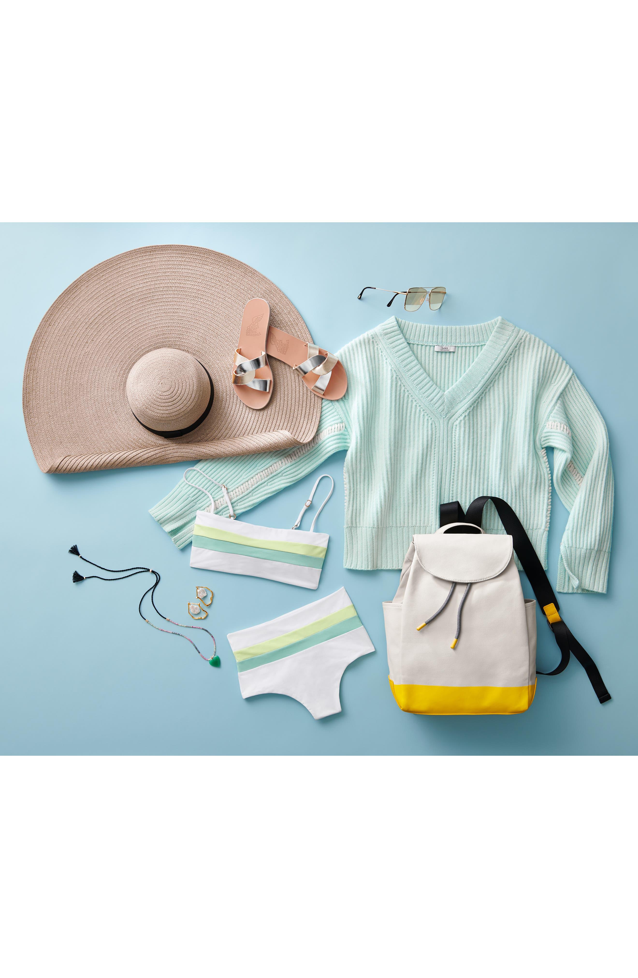 L SPACE,                             Portia Reversible High Waist Bikini Bottoms,                             Alternate thumbnail 12, color,                             WHITE/ LIGHT TURQ/ LEMONADE