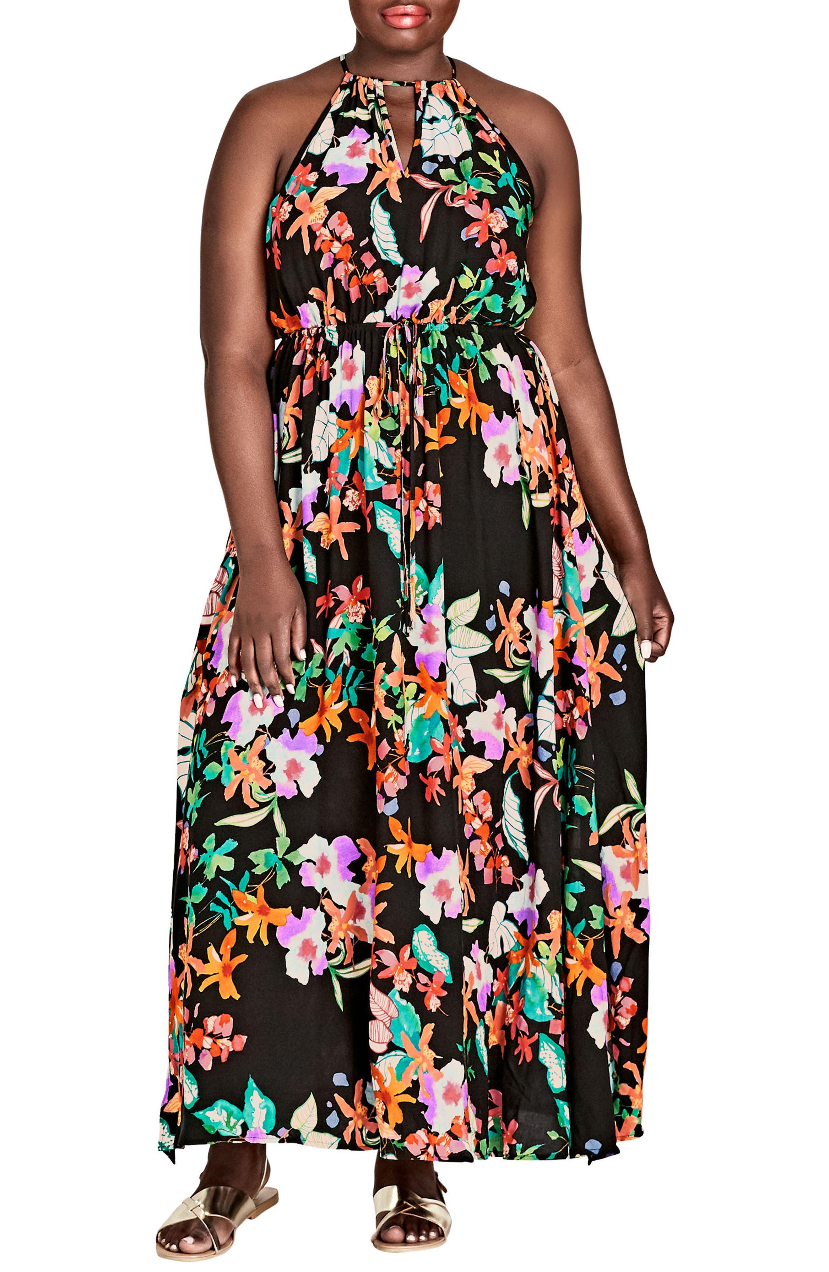 Molokai Floral Maxi Dress,                             Main thumbnail 1, color,                             MOLOKAI FLORAL