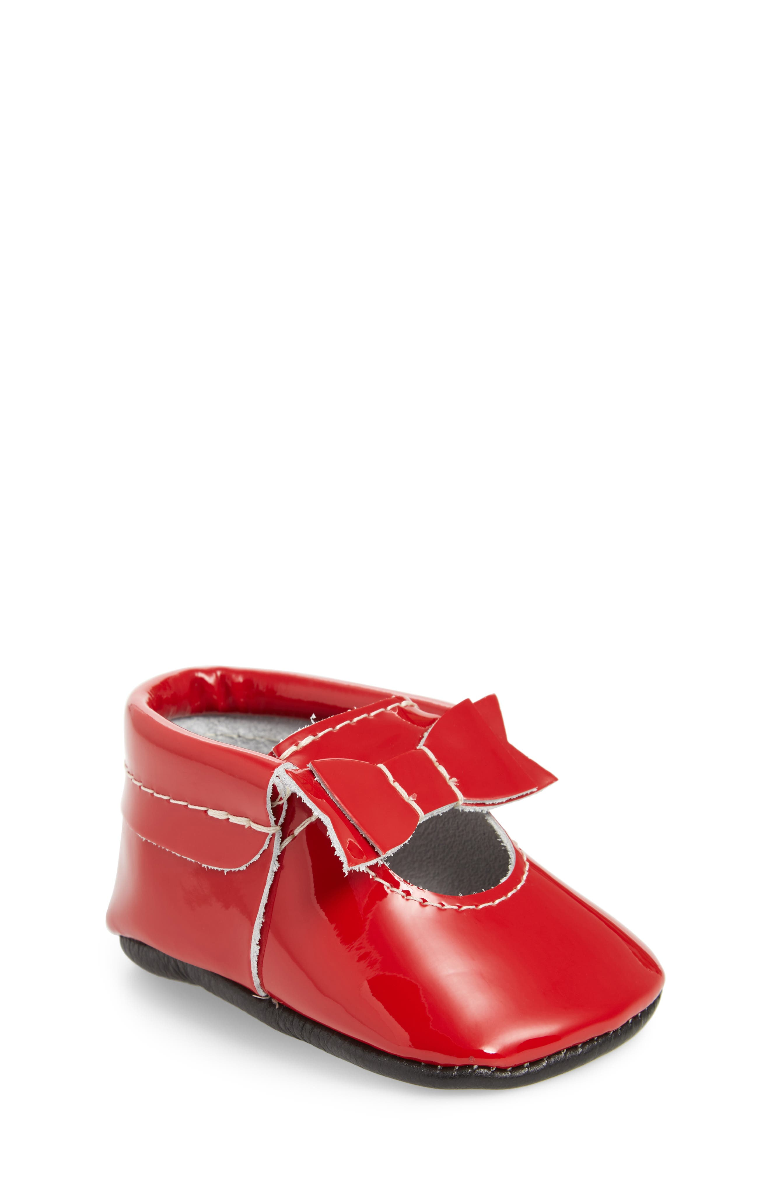 Bow Patent Mary Jane,                             Main thumbnail 1, color,                             RED PATENT