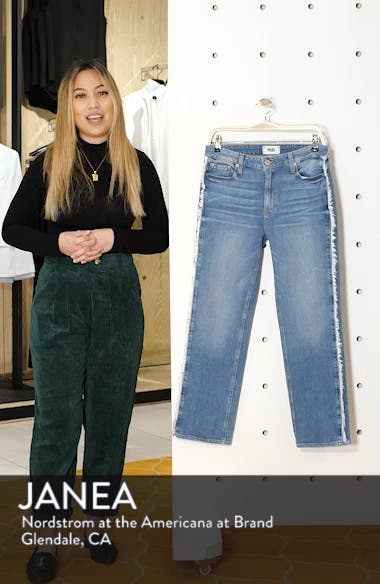 Noella Frayed Side Seam Ankle Jeans, sales video thumbnail