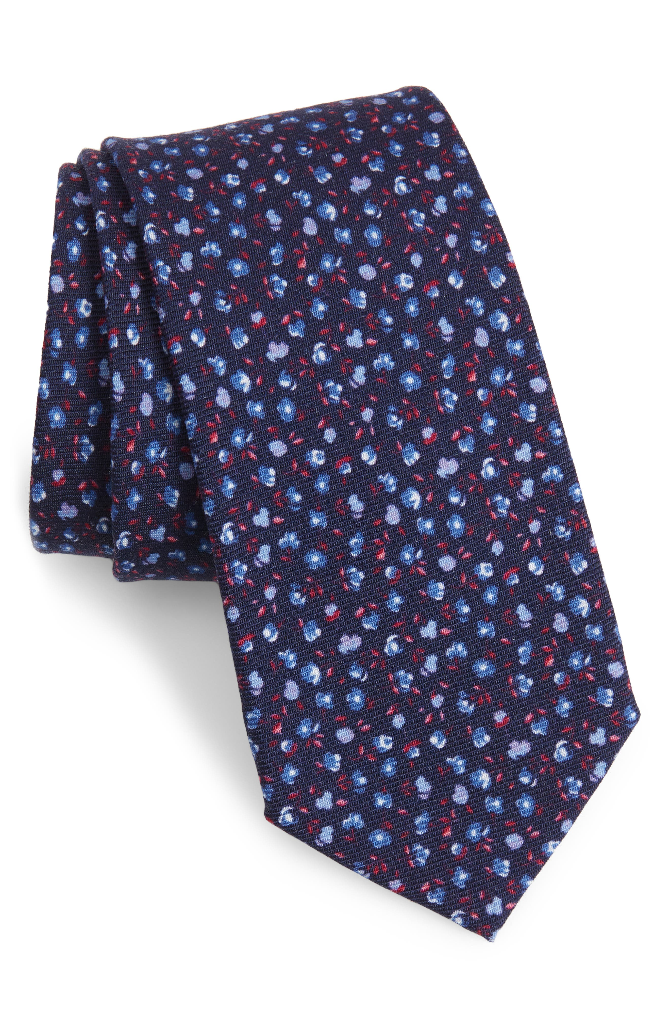 Villapool Floral Wool Tie,                         Main,                         color, 400