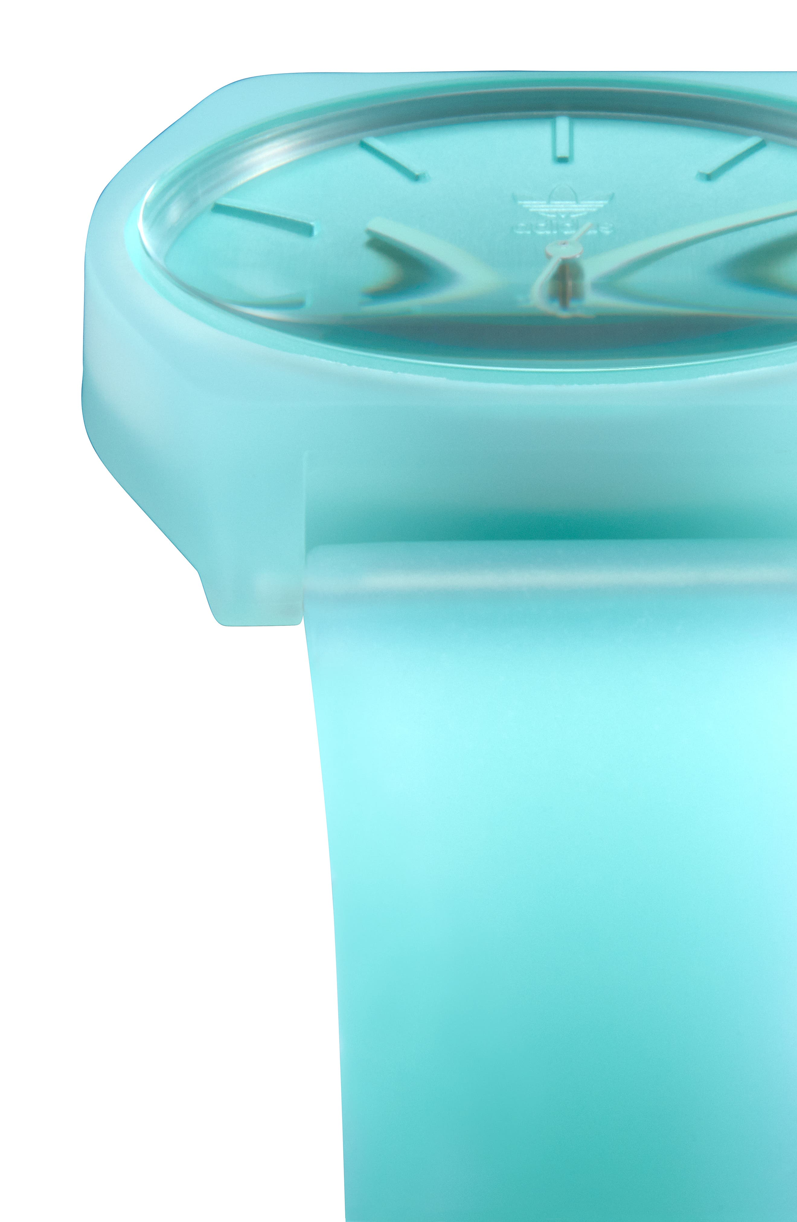 Process Silicone Strap Watch, 38mm,                             Alternate thumbnail 4, color,                             CLEAR MINT