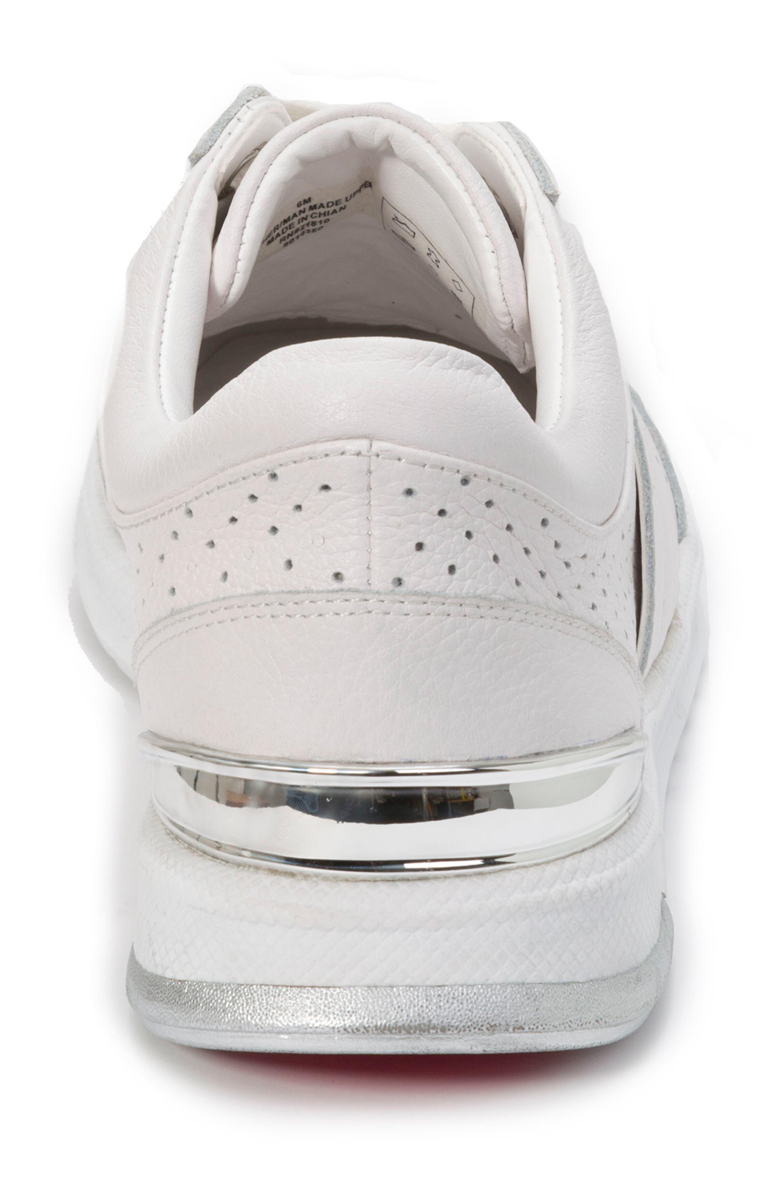 FOOT PETALS,                             Bea Sneaker,                             Alternate thumbnail 7, color,                             WHITE LEATHER