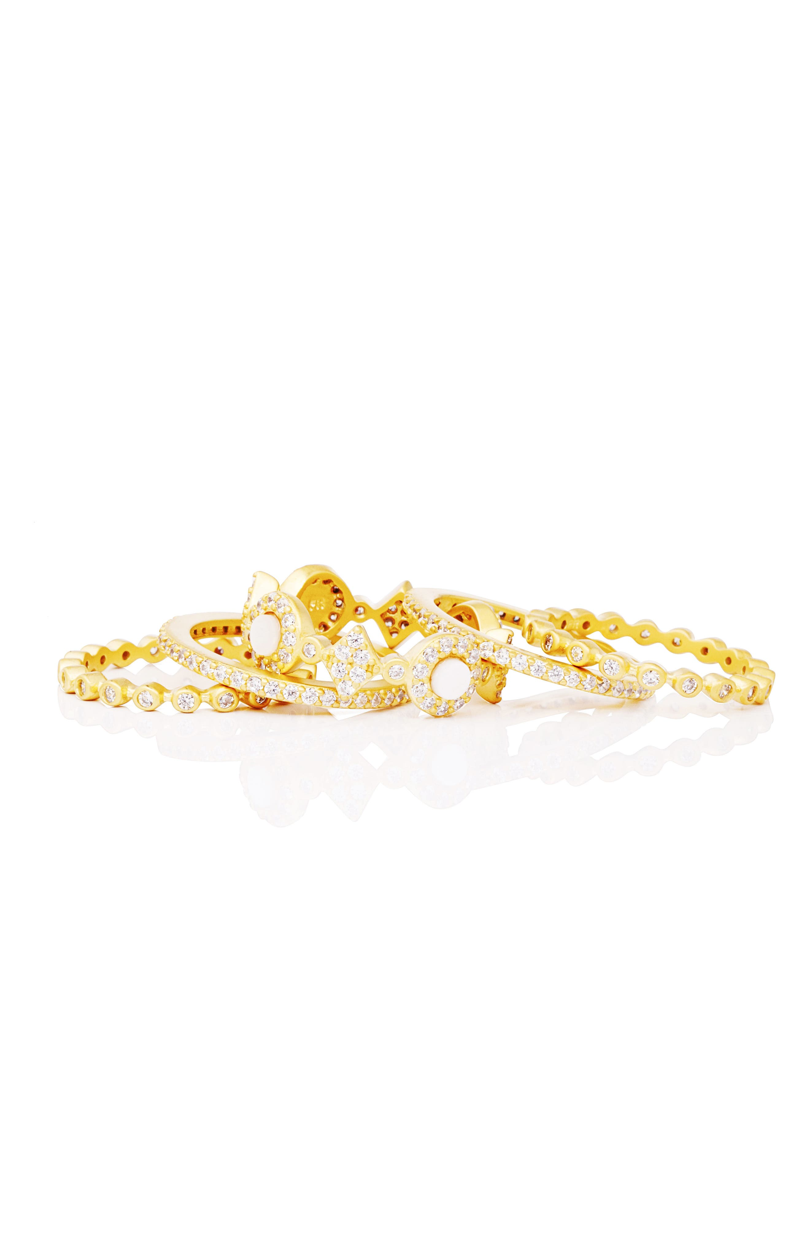 Signature Mother of Pearl Stackable Rings,                             Alternate thumbnail 2, color,                             GOLD/ MOTHER OF PEARL