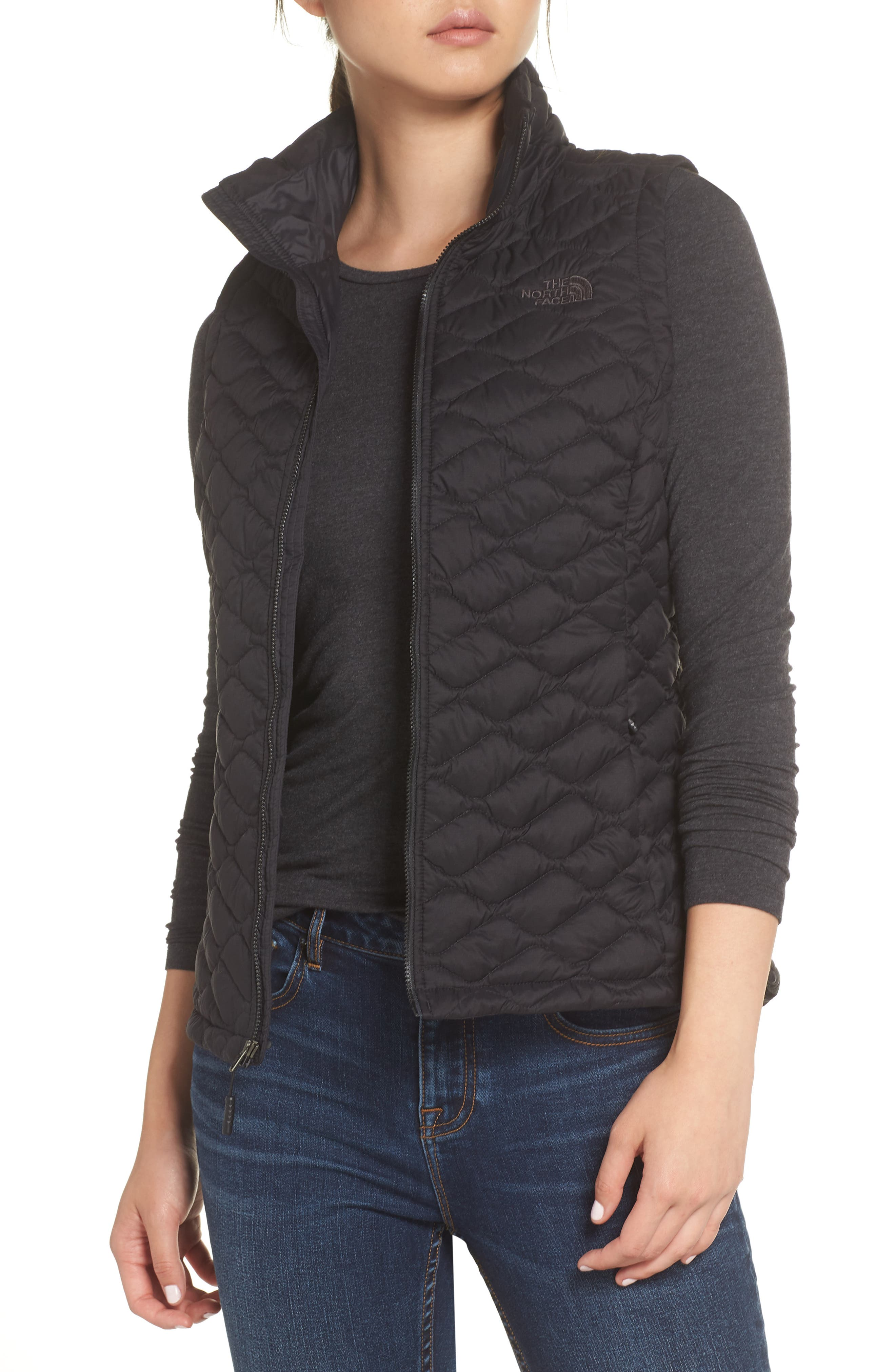 THE NORTH FACE,                             ThermoBall<sup>™</sup> PrimaLoft<sup>®</sup> Vest,                             Main thumbnail 1, color,                             TNF BLACK MATTE