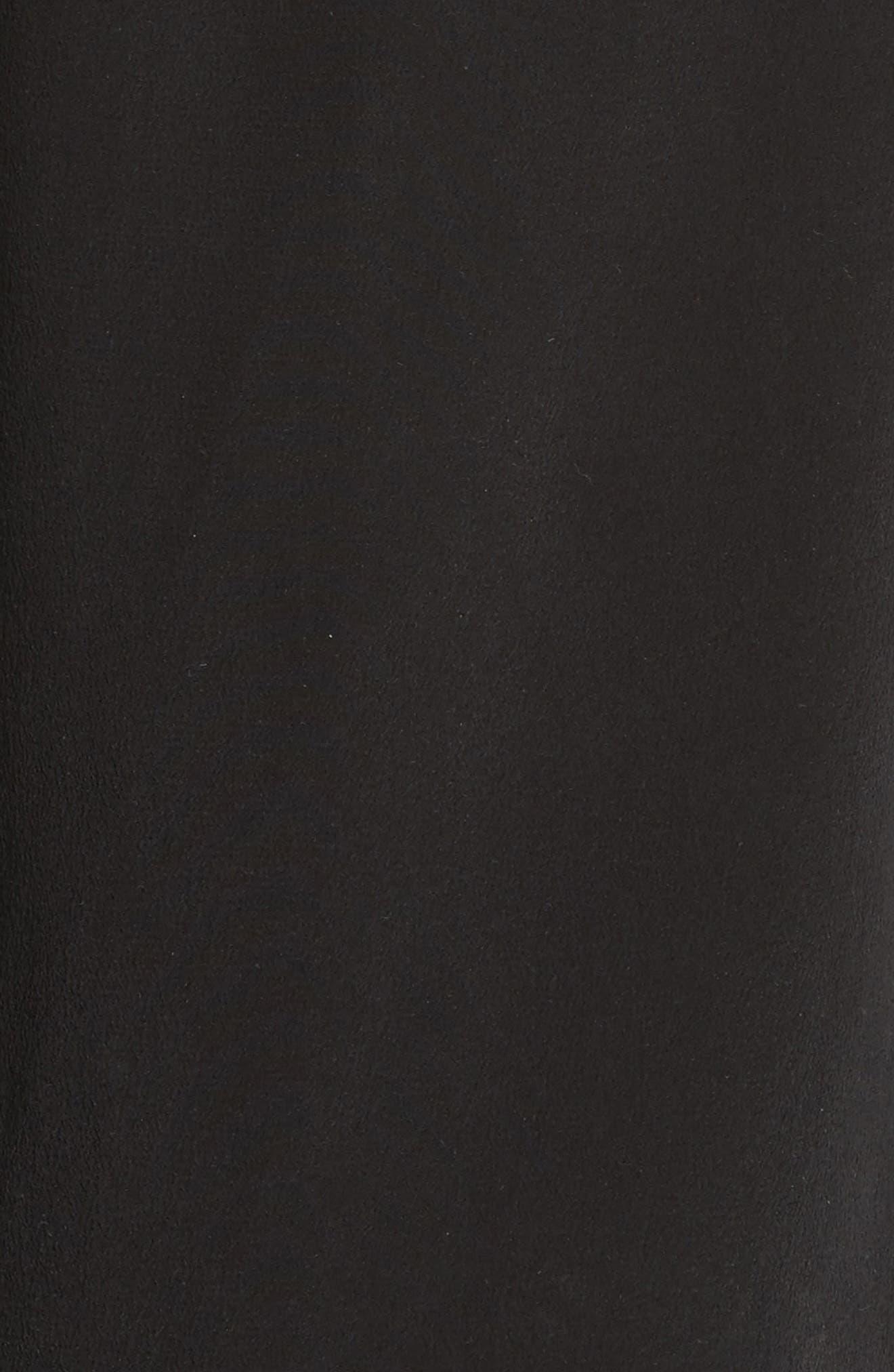 Silk Slit Back Shirtdress,                             Alternate thumbnail 5, color,                             001