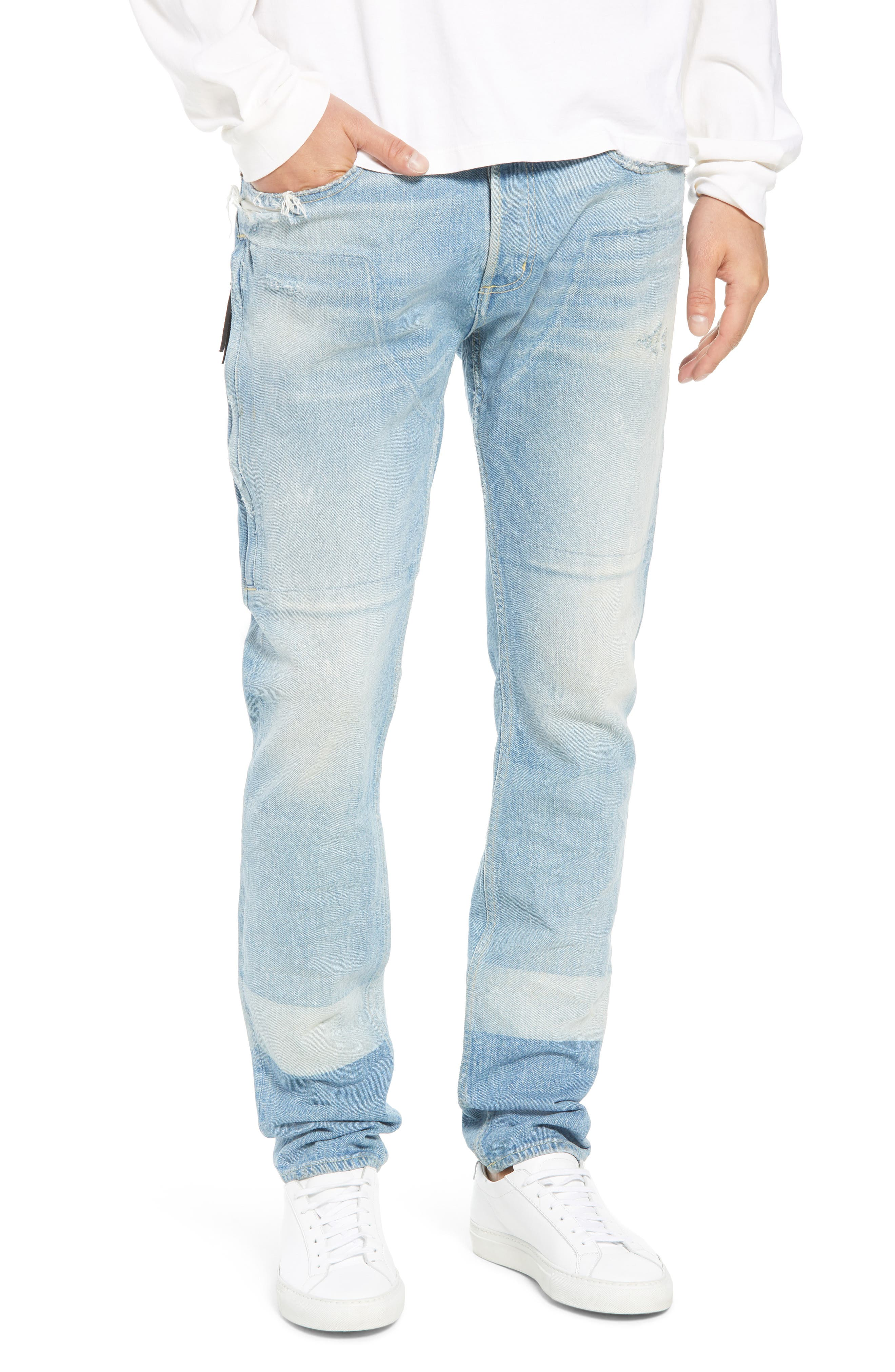 MR. COMPLETELY Emirate Slim Fit Jeans in Blue Strip