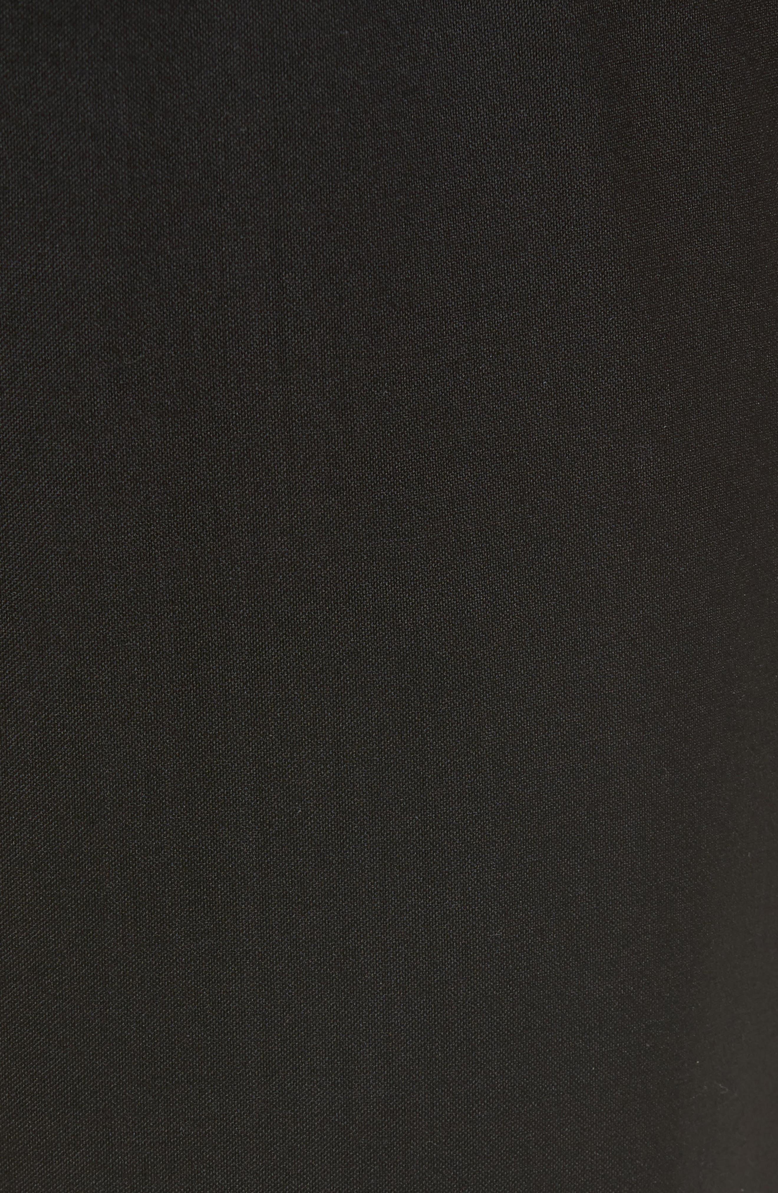 Slim Fit Wool Track Pants,                             Alternate thumbnail 5, color,                             001