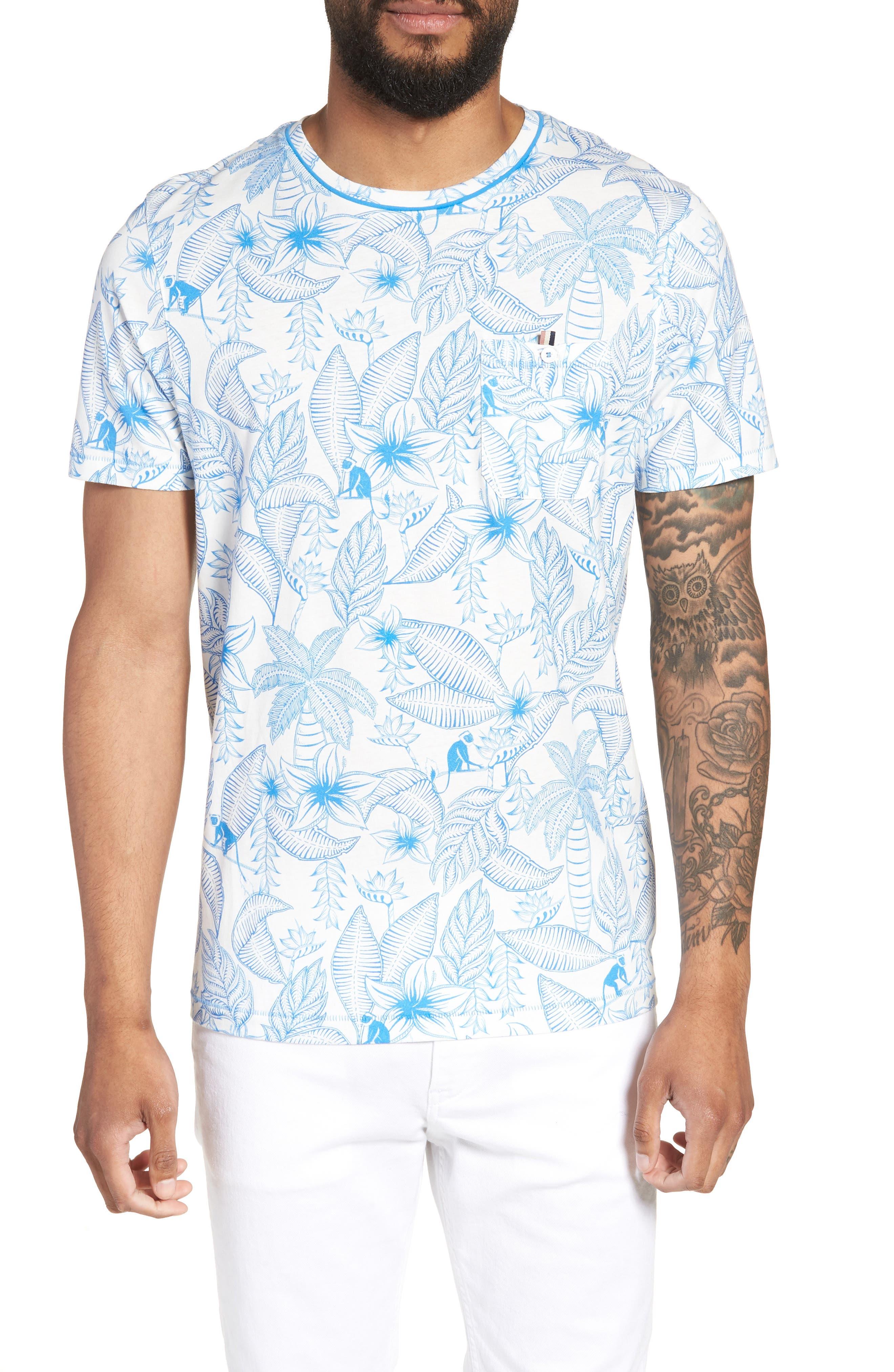 Bengel Crewneck T-Shirt,                             Main thumbnail 1, color,                             BRIGHT BLUE