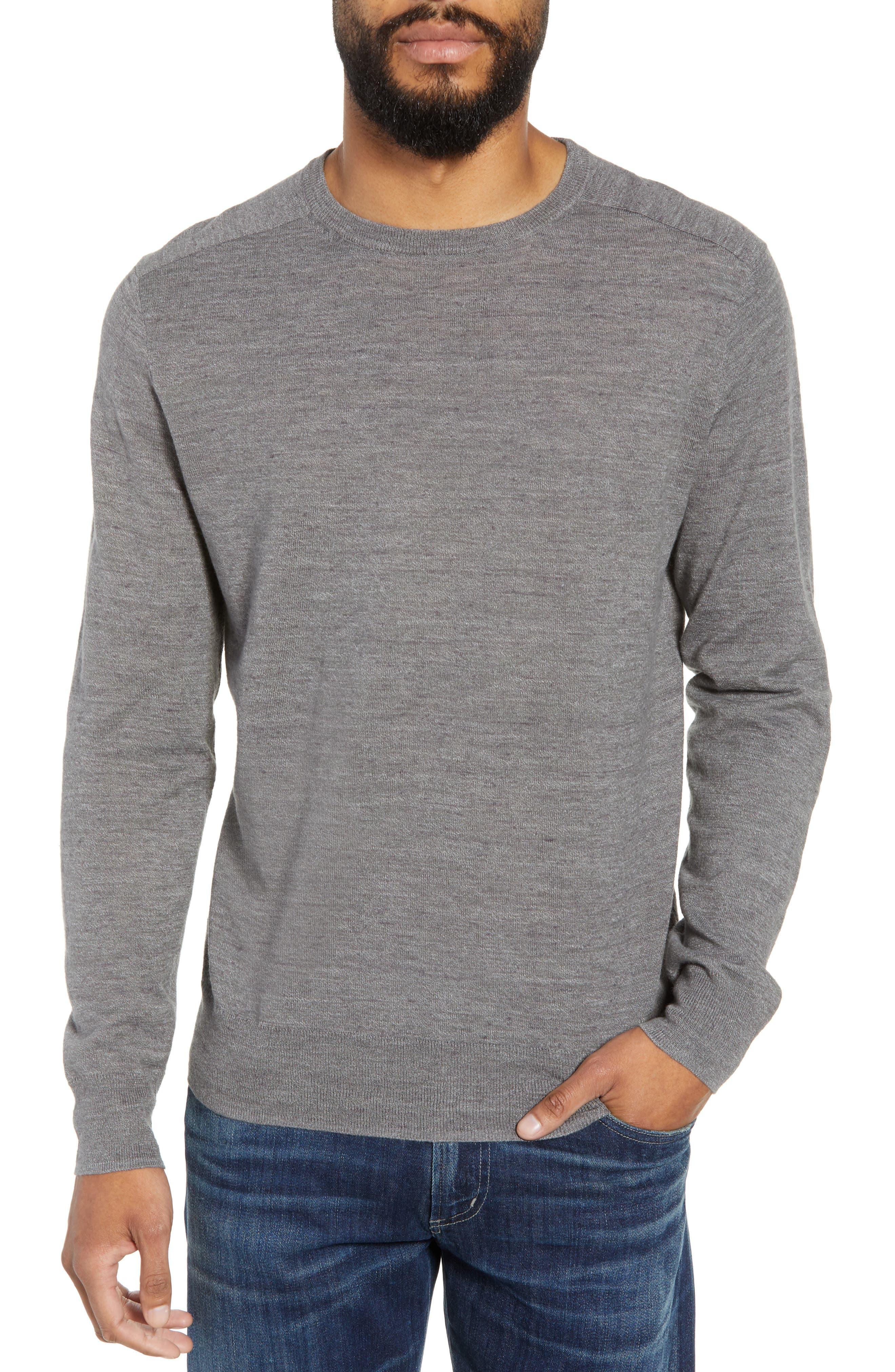 Cotton Blend Crewneck Sweater,                             Main thumbnail 1, color,