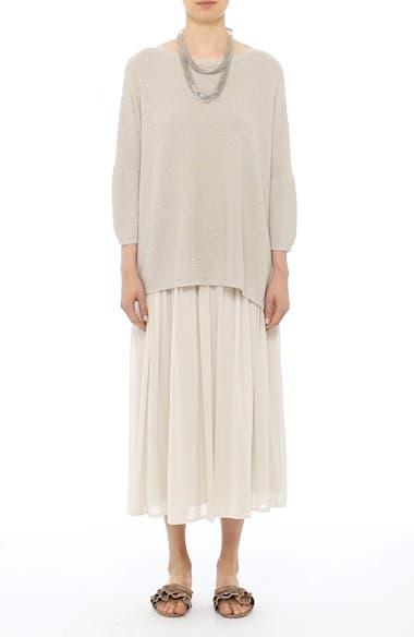 Pleated Chiffon Midi Skirt, video thumbnail