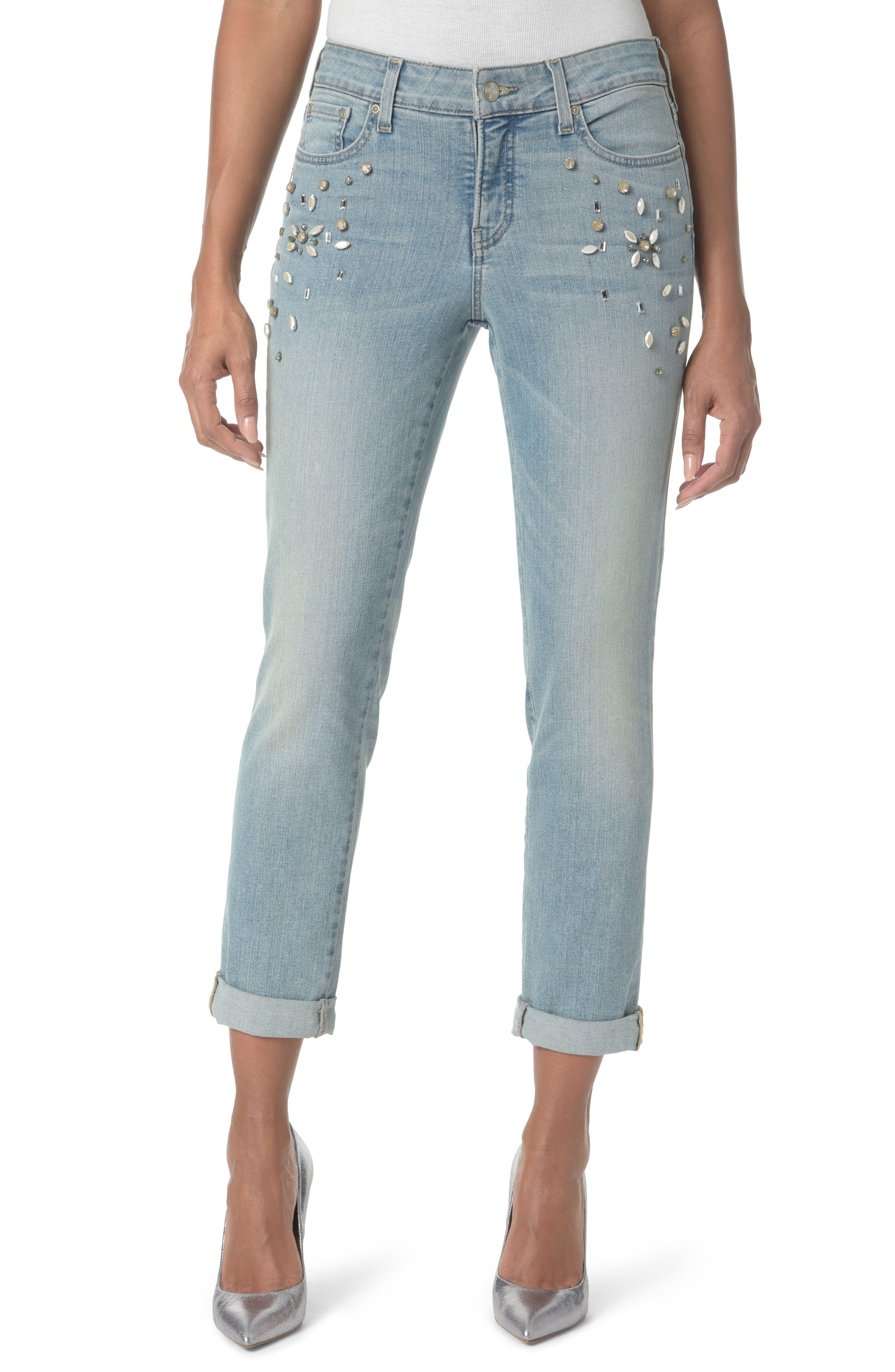 Embellished Boyfriend Jeans,                         Main,                         color, 453