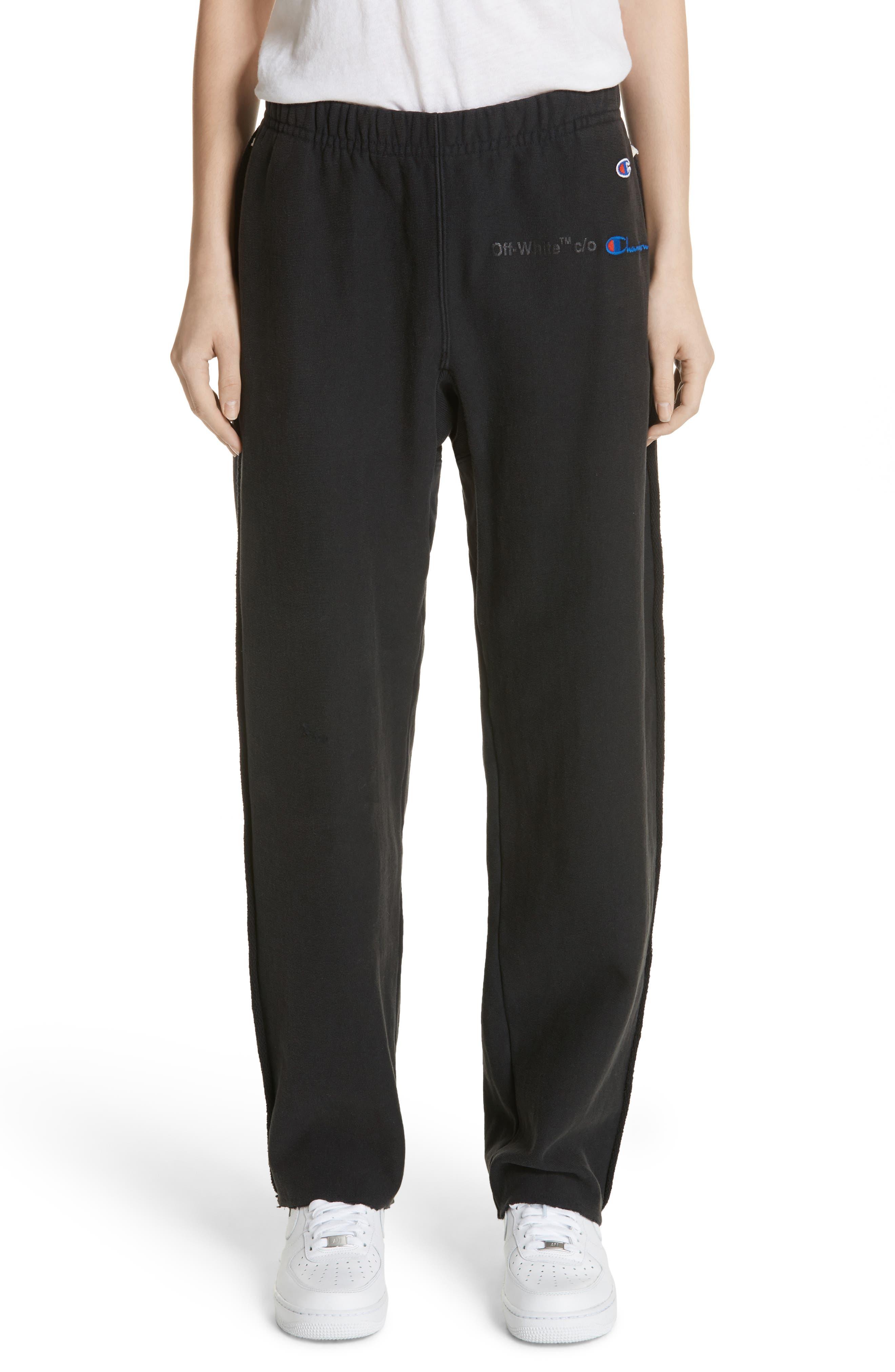 x Champion Sweatpants,                         Main,                         color, 001