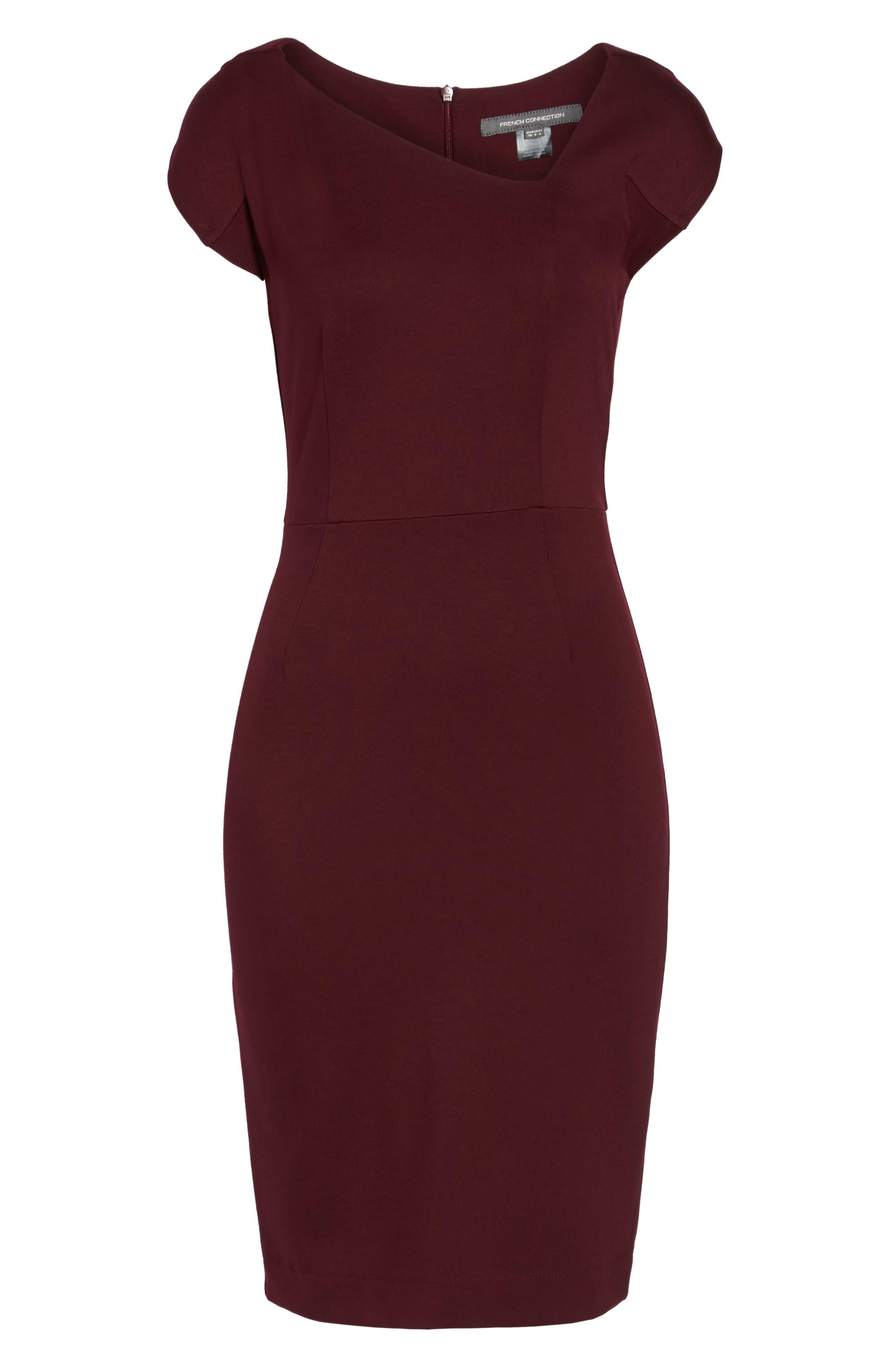 FRENCH CONNECTION,                             Lula Sheath Dress,                             Alternate thumbnail 6, color,                             935