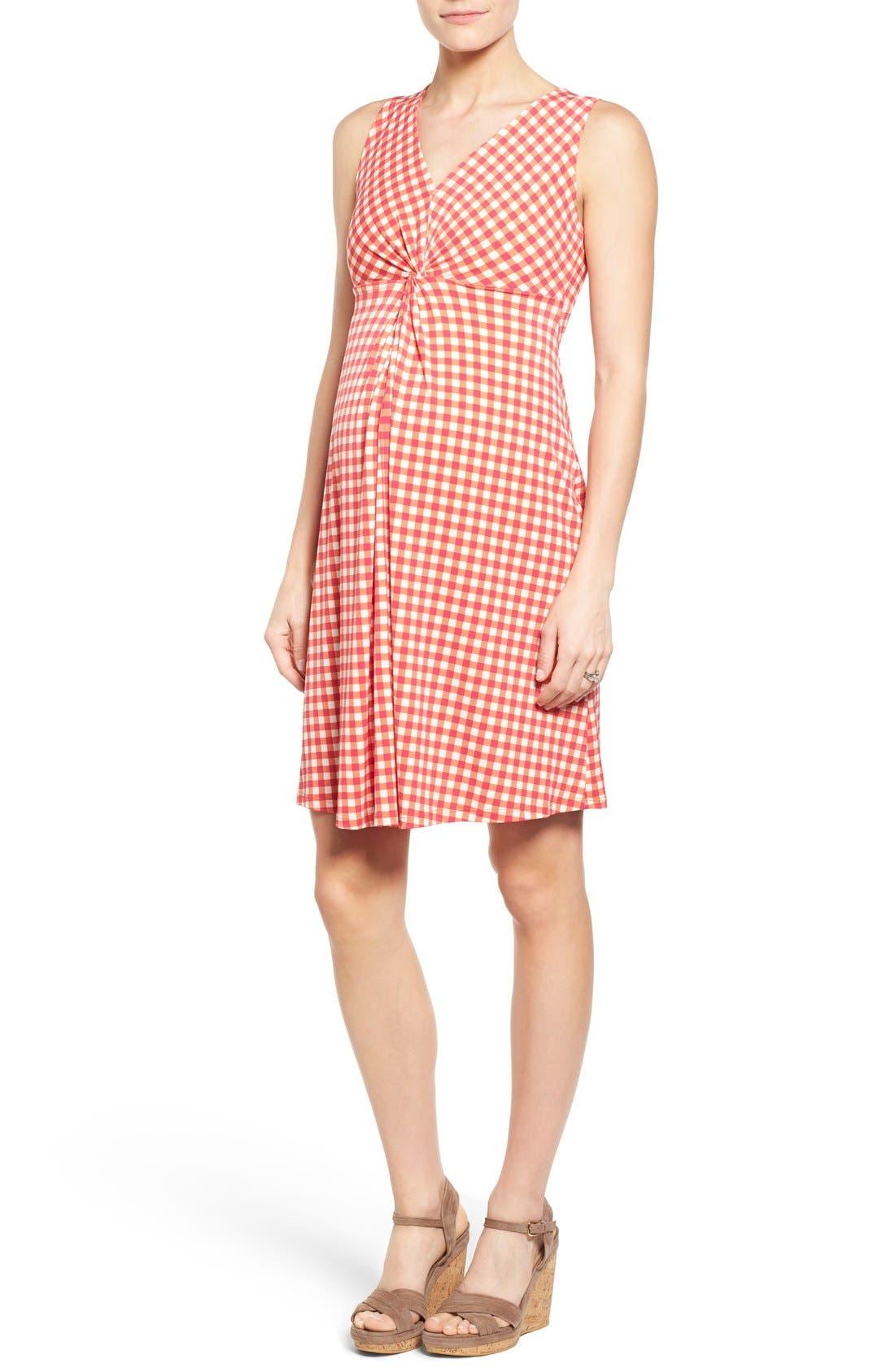 Leota Sleeveless Maternity Dress, Red
