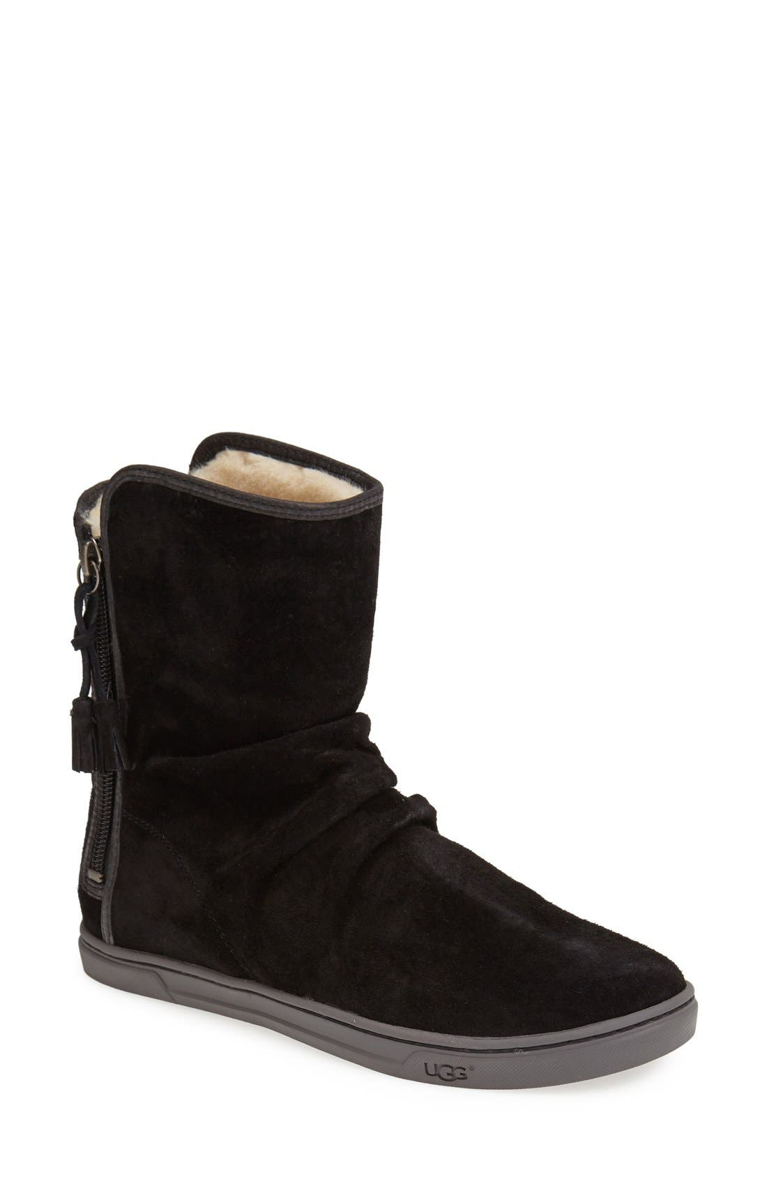 Australia 'Becky' Water Resistant Suede Boot,                             Main thumbnail 1, color,                             001