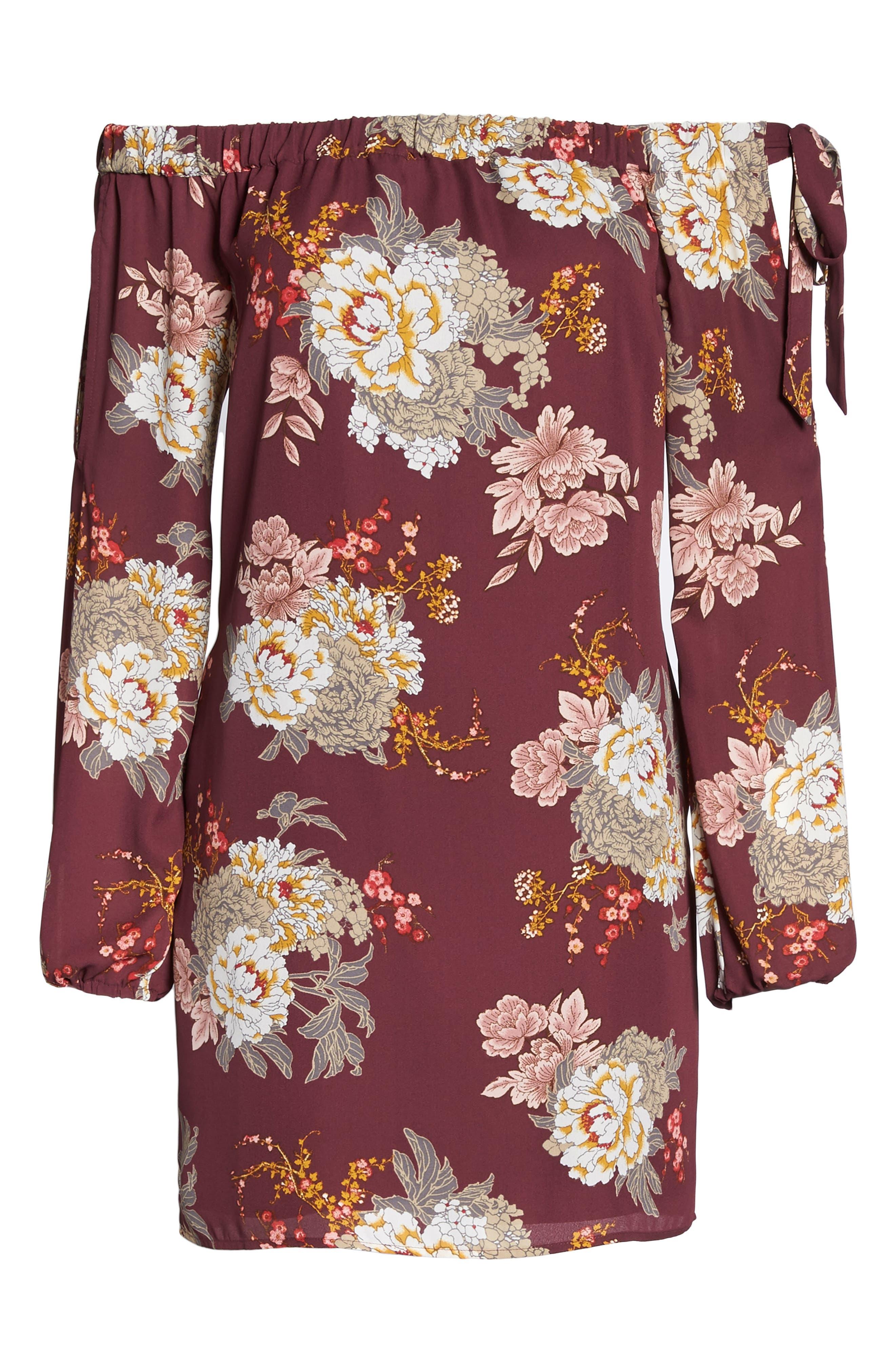 Jade Off the Shoulder Dress,                             Alternate thumbnail 6, color,                             506