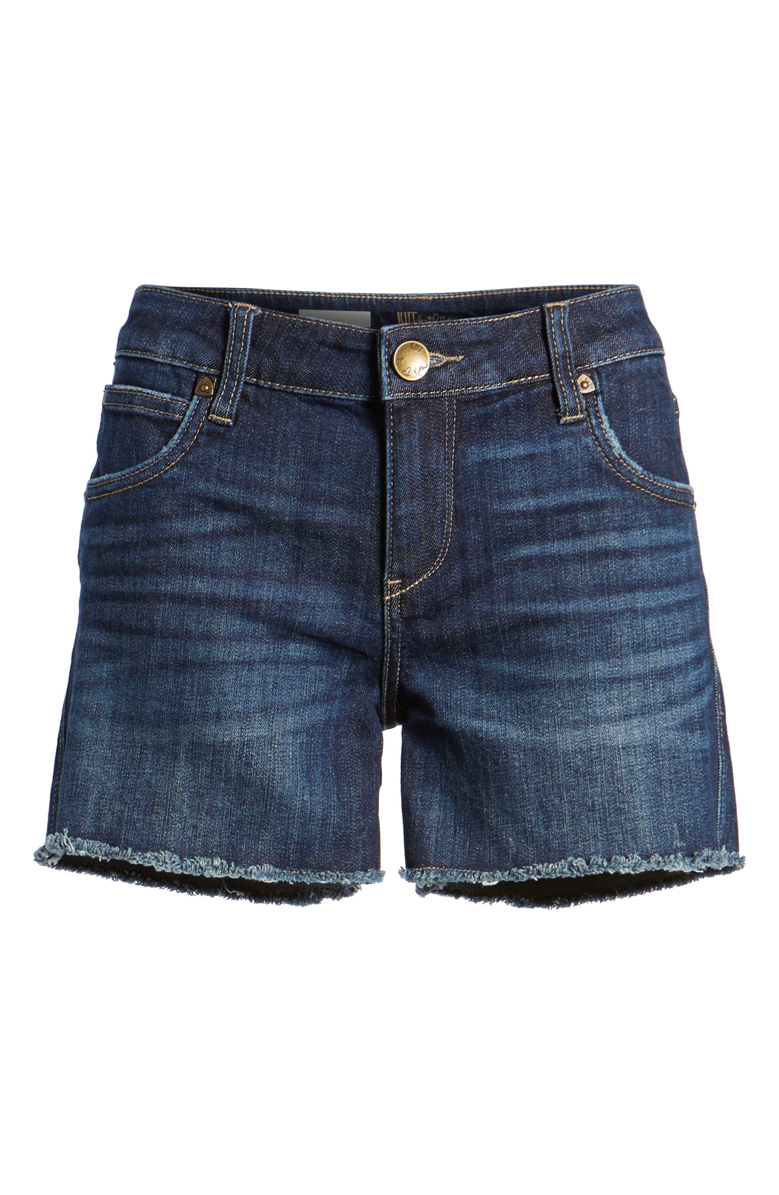 Gidget Denim Cutoff Shorts,                             Alternate thumbnail 6, color,                             STIMULATING