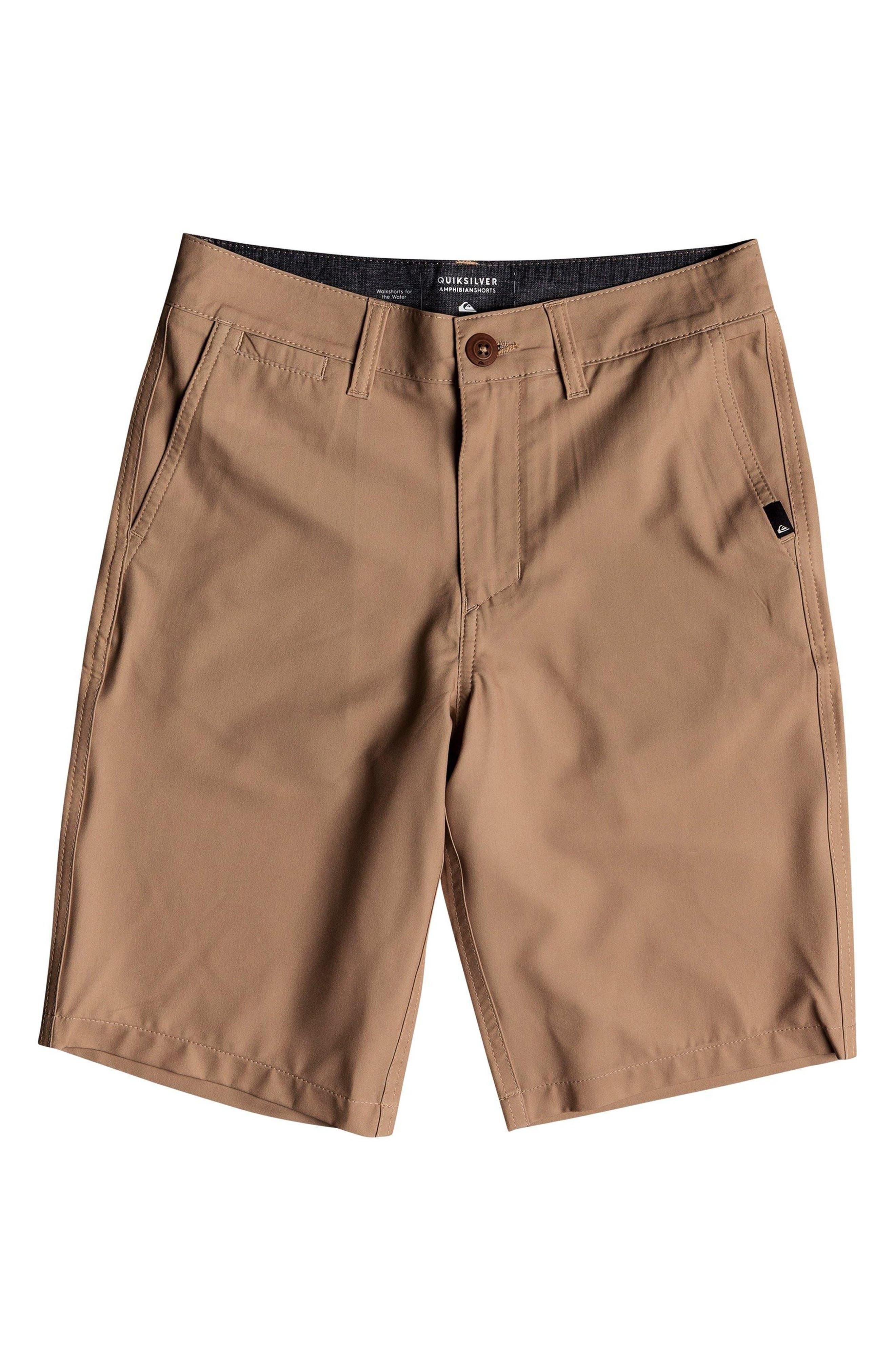Boys Quiksilver Union Amphibian Hybrid Shorts Size 30  Brown
