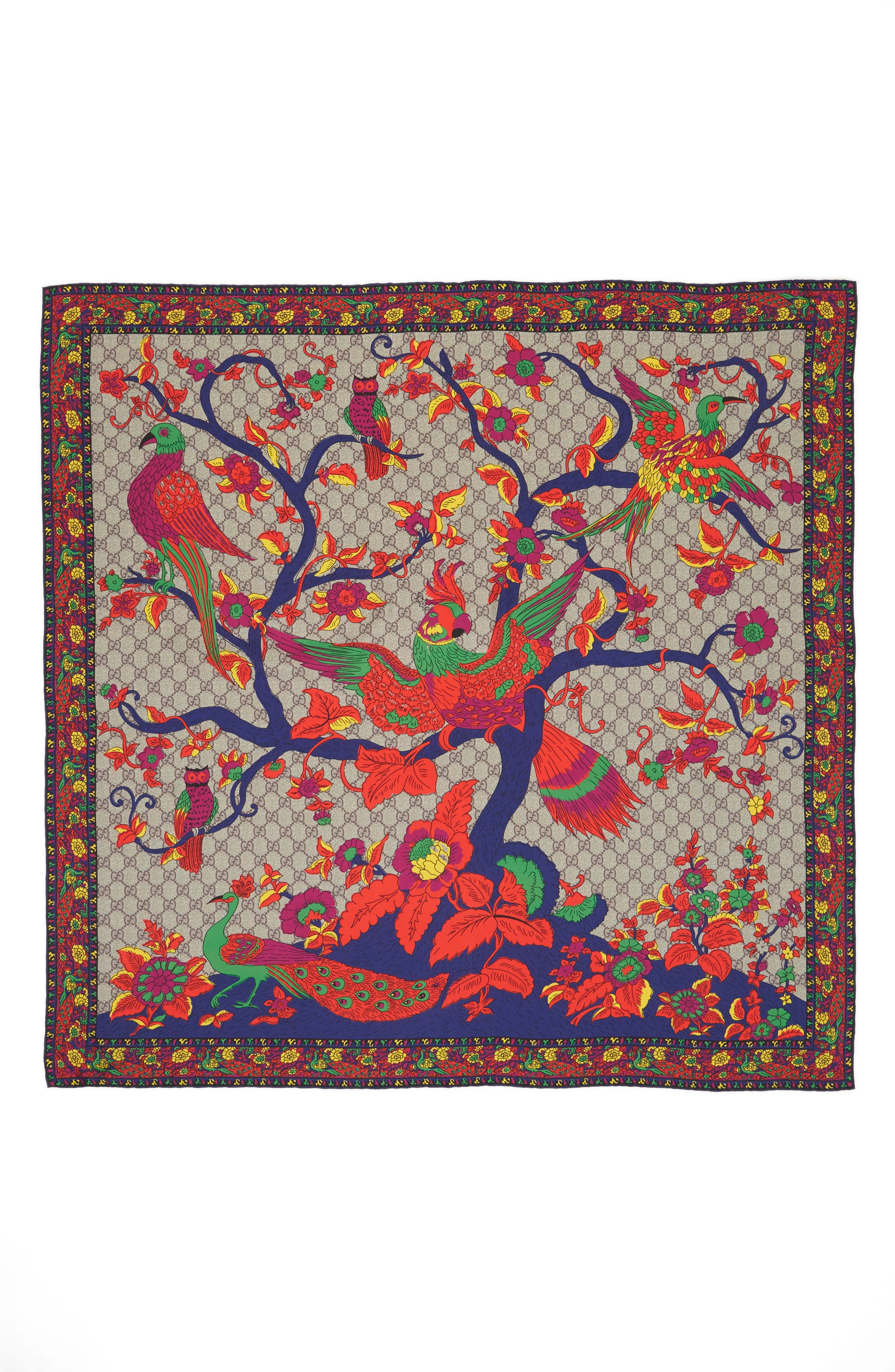 Jubilee Square Silk Scarf,                             Alternate thumbnail 3, color,                             400