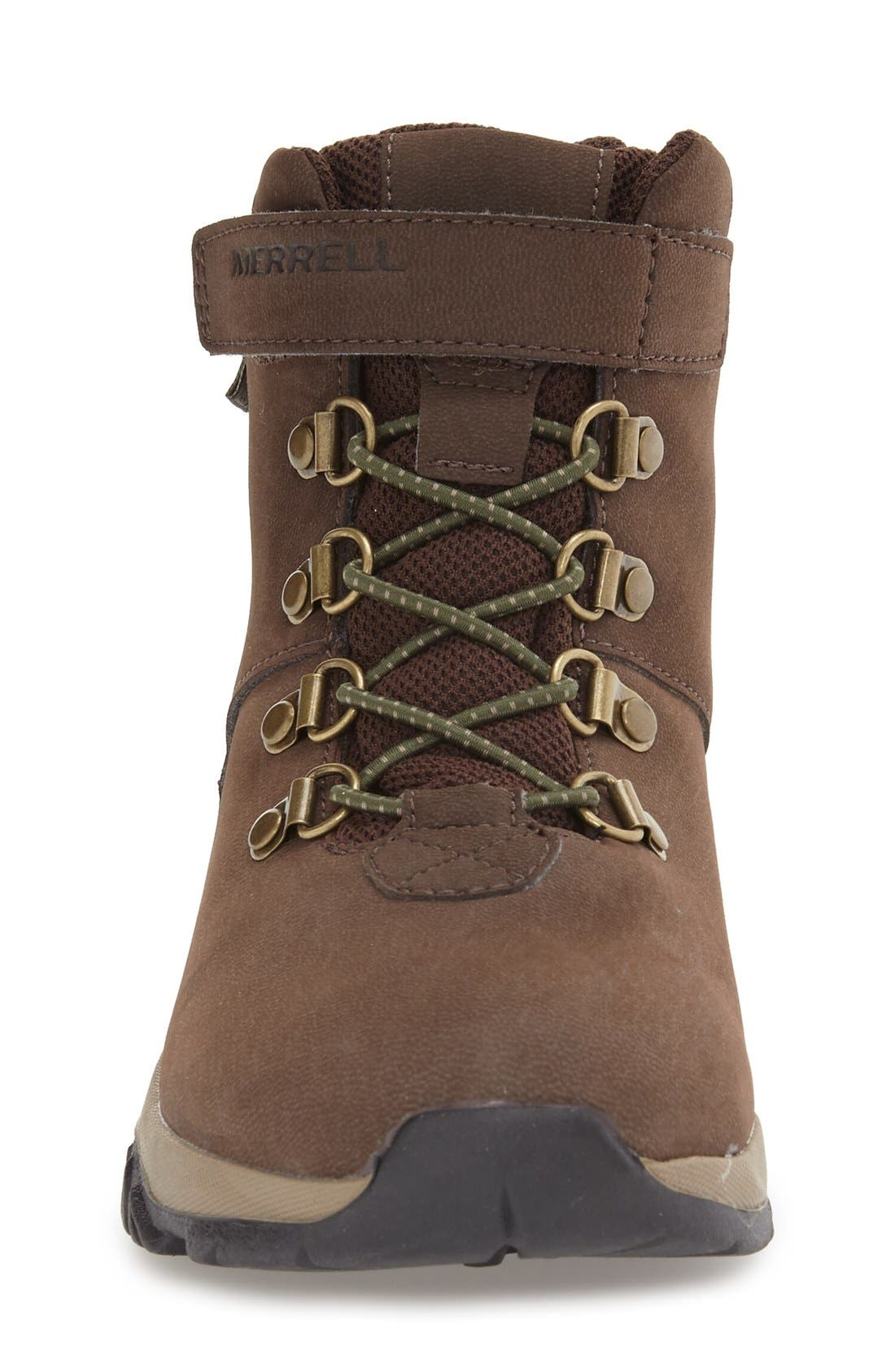 'Alpine' Waterproof Boot,                             Alternate thumbnail 3, color,                             BROWN LEATHER