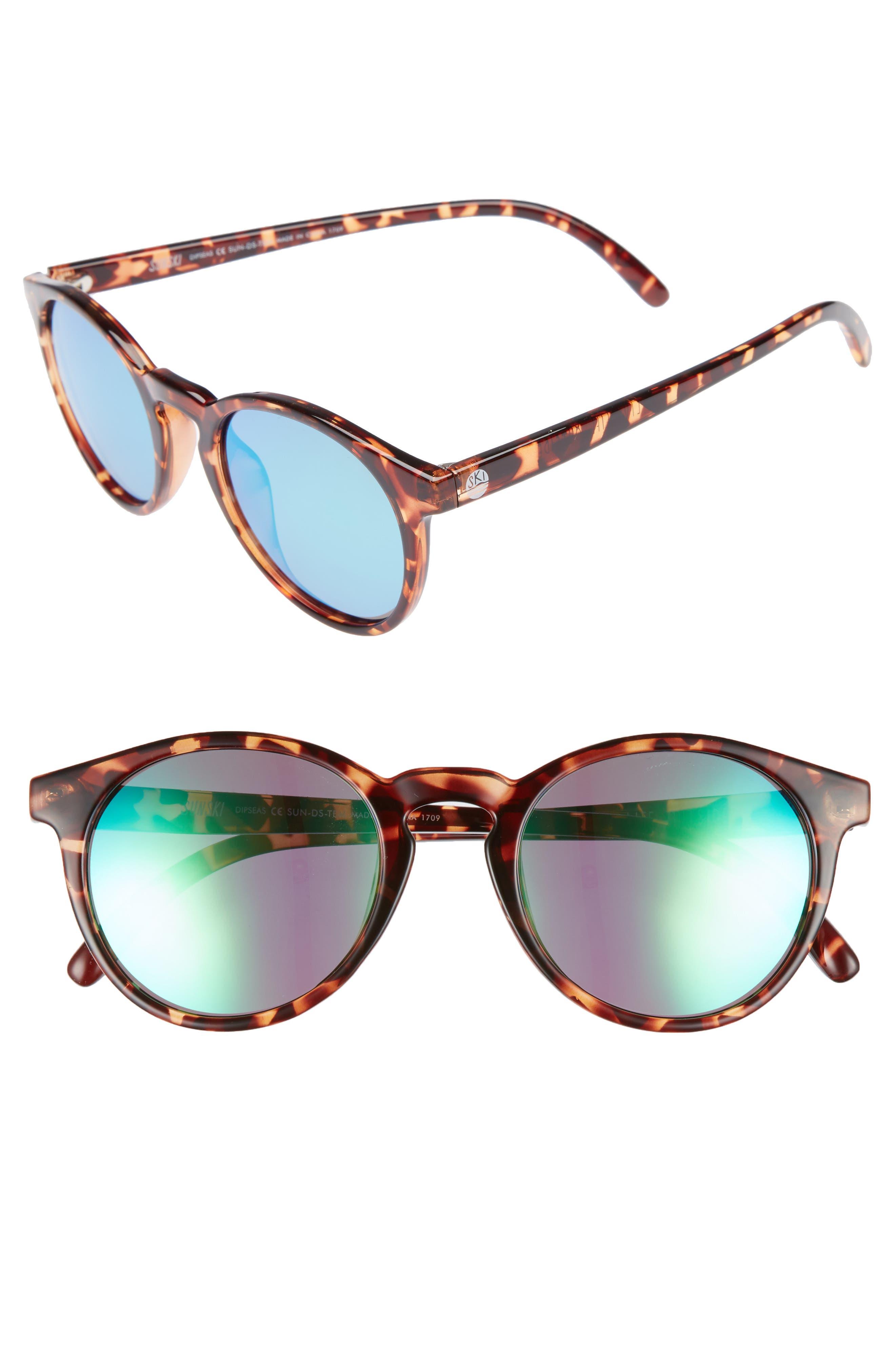 Dipsea 48mm Polarized Sunglasses,                             Alternate thumbnail 2, color,                             TORTOISE EMERALD