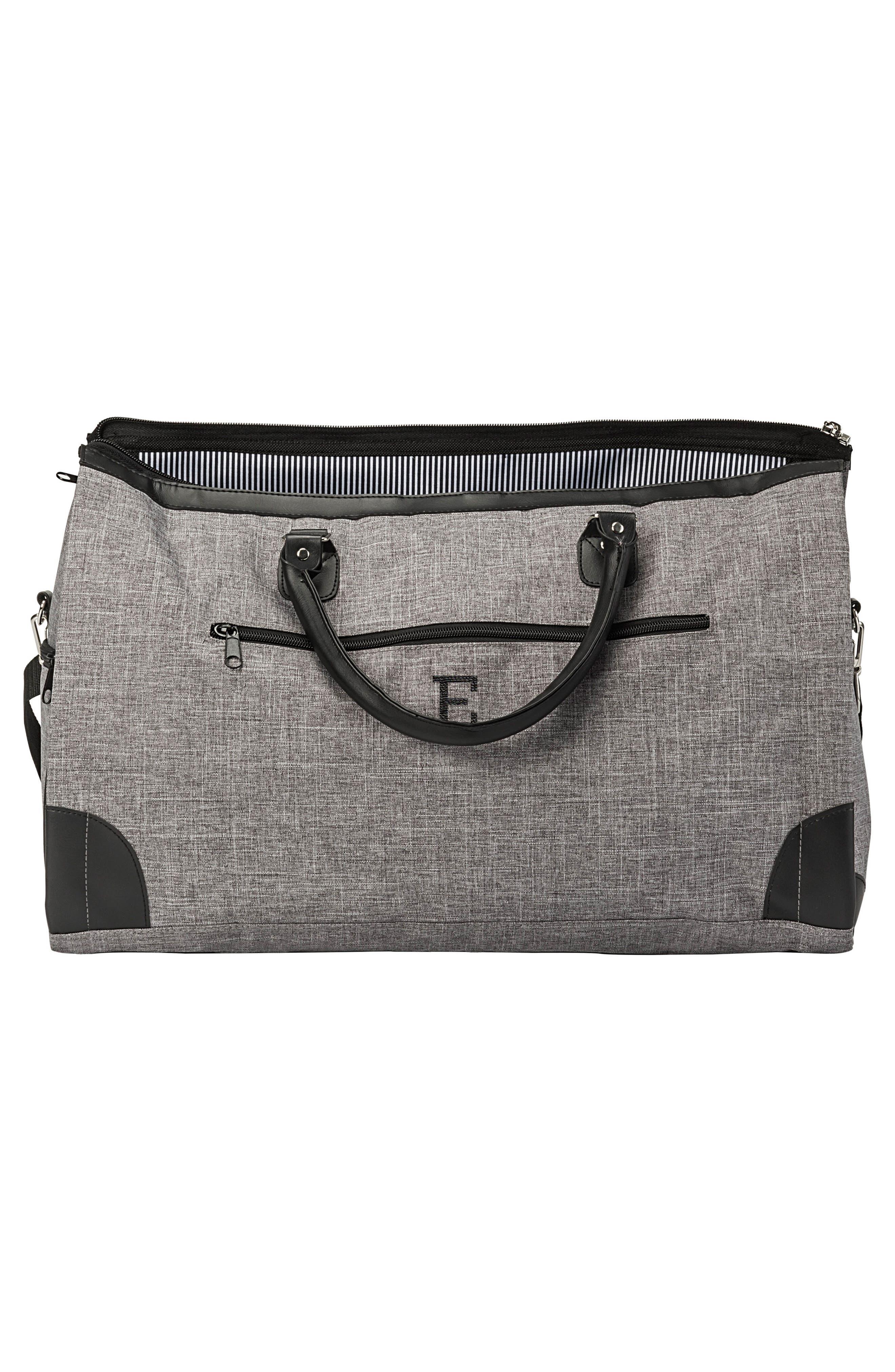 Monogram Duffel/Garment Bag,                             Alternate thumbnail 7, color,                             GREY A