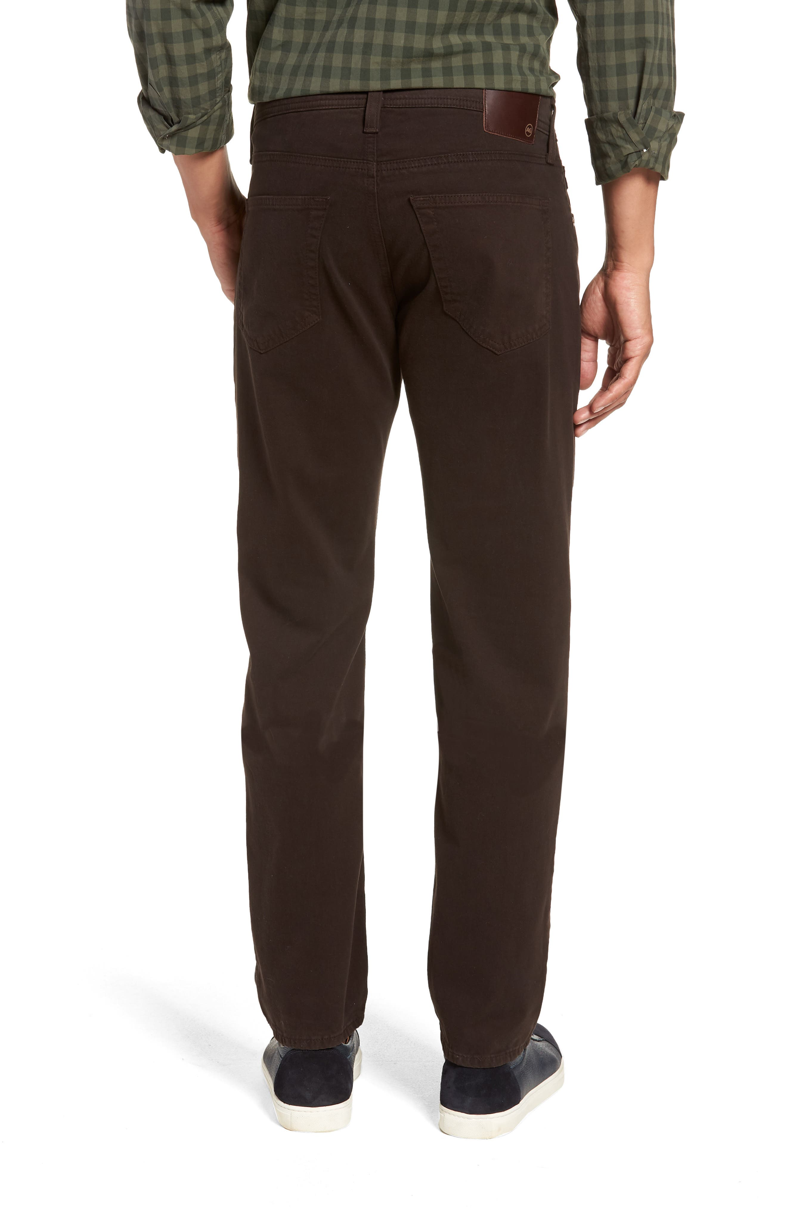 Tellis SUD Modern Slim Stretch Twill Pants,                             Alternate thumbnail 2, color,                             SHUTTER BROWN