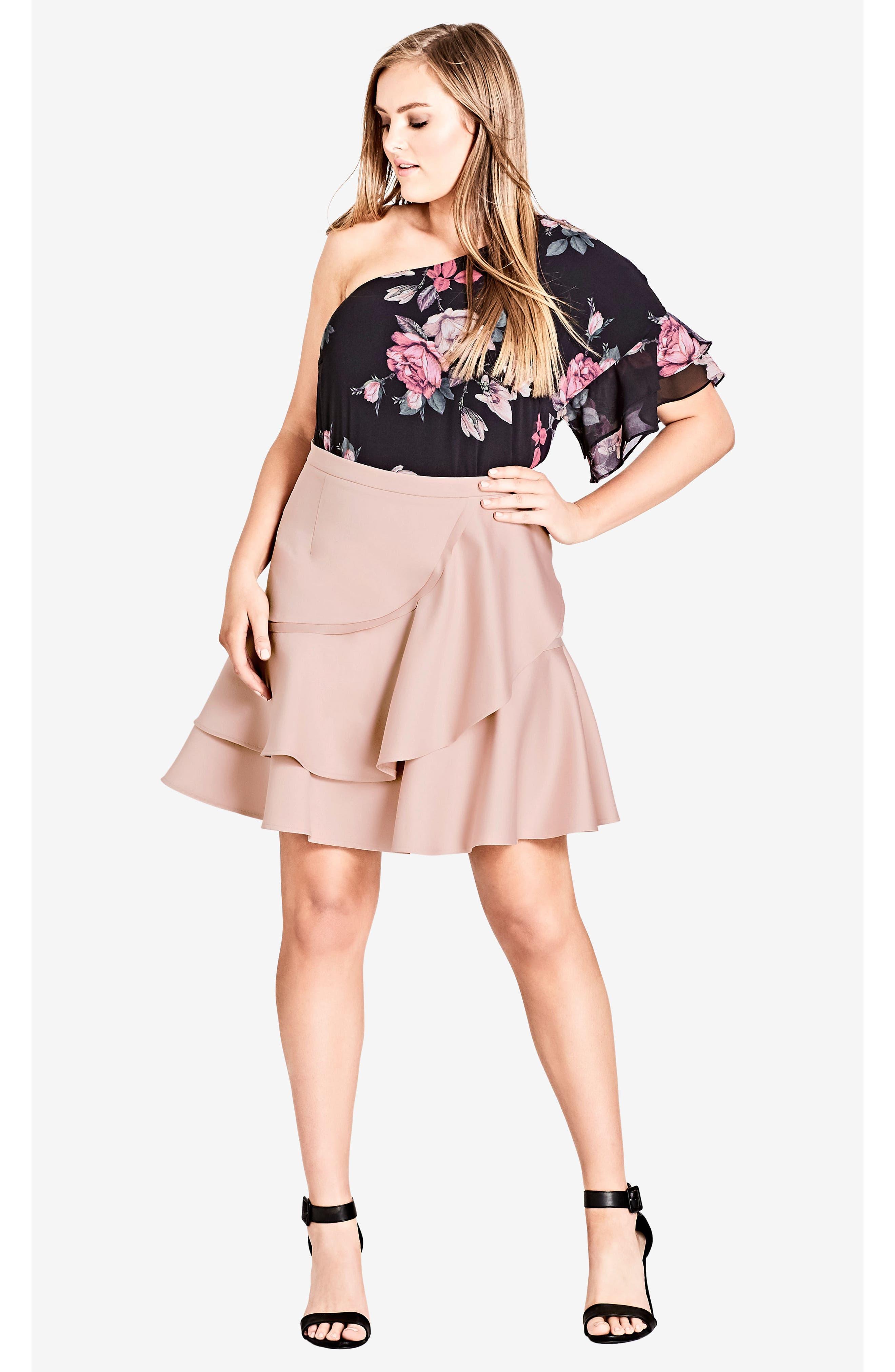 Frill Me Ruffle Skirt,                             Alternate thumbnail 4, color,                             657