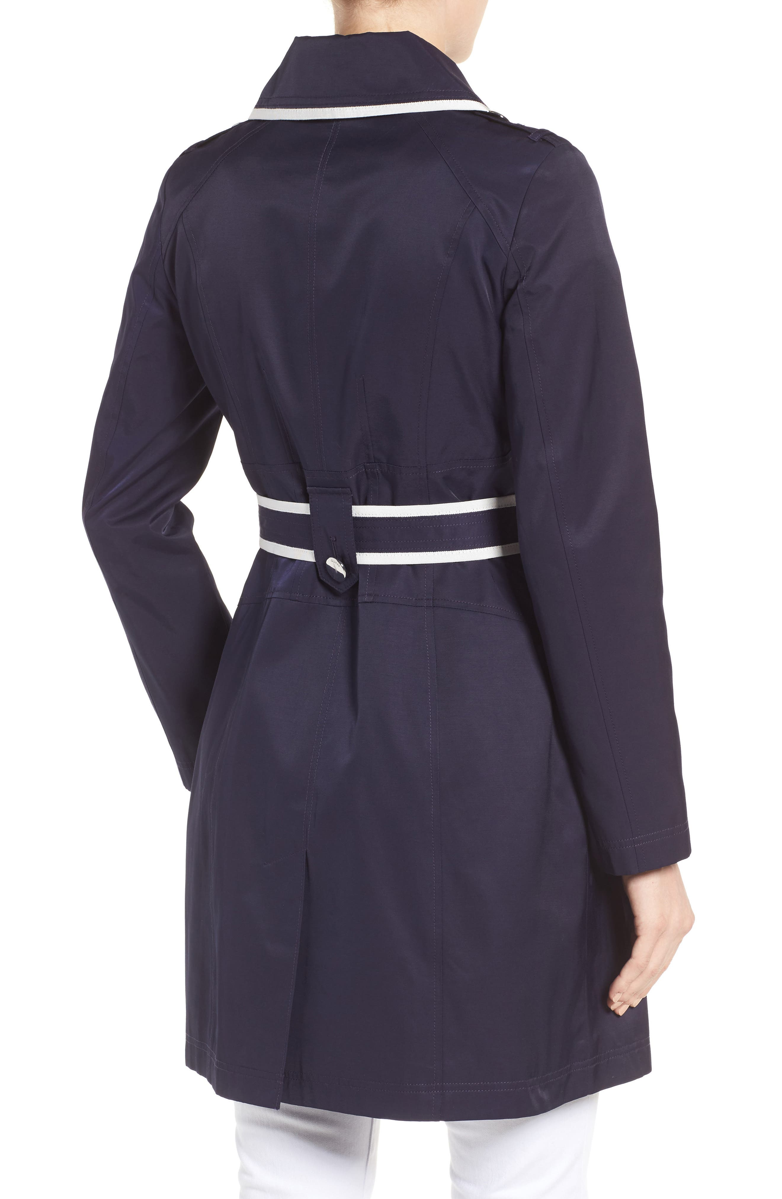 Piped Trench Coat,                             Alternate thumbnail 2, color,                             410