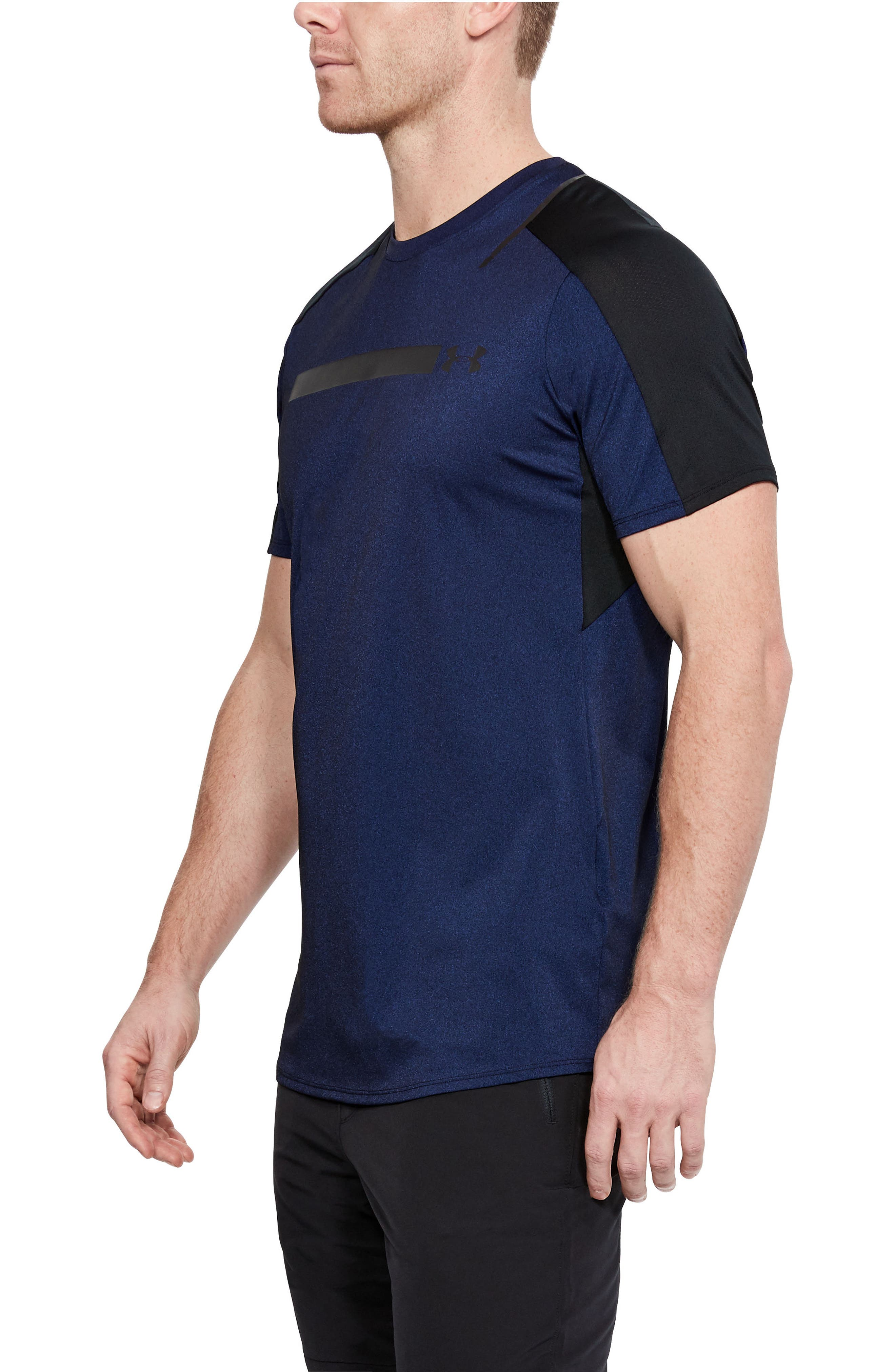 Perpetual Fitted Shirt,                             Alternate thumbnail 3, color,                             FORMATION BLUE/ BLACK