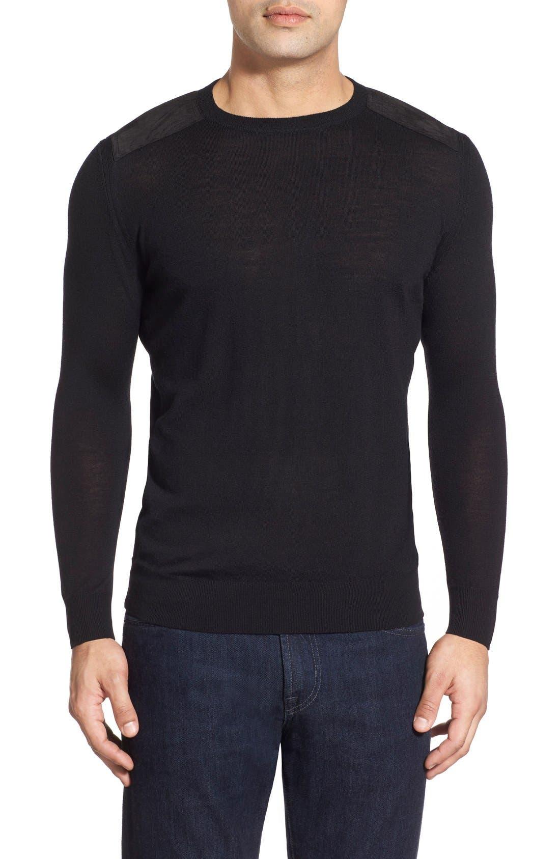 Regular Fit Crewneck Sweater,                             Main thumbnail 1, color,                             001