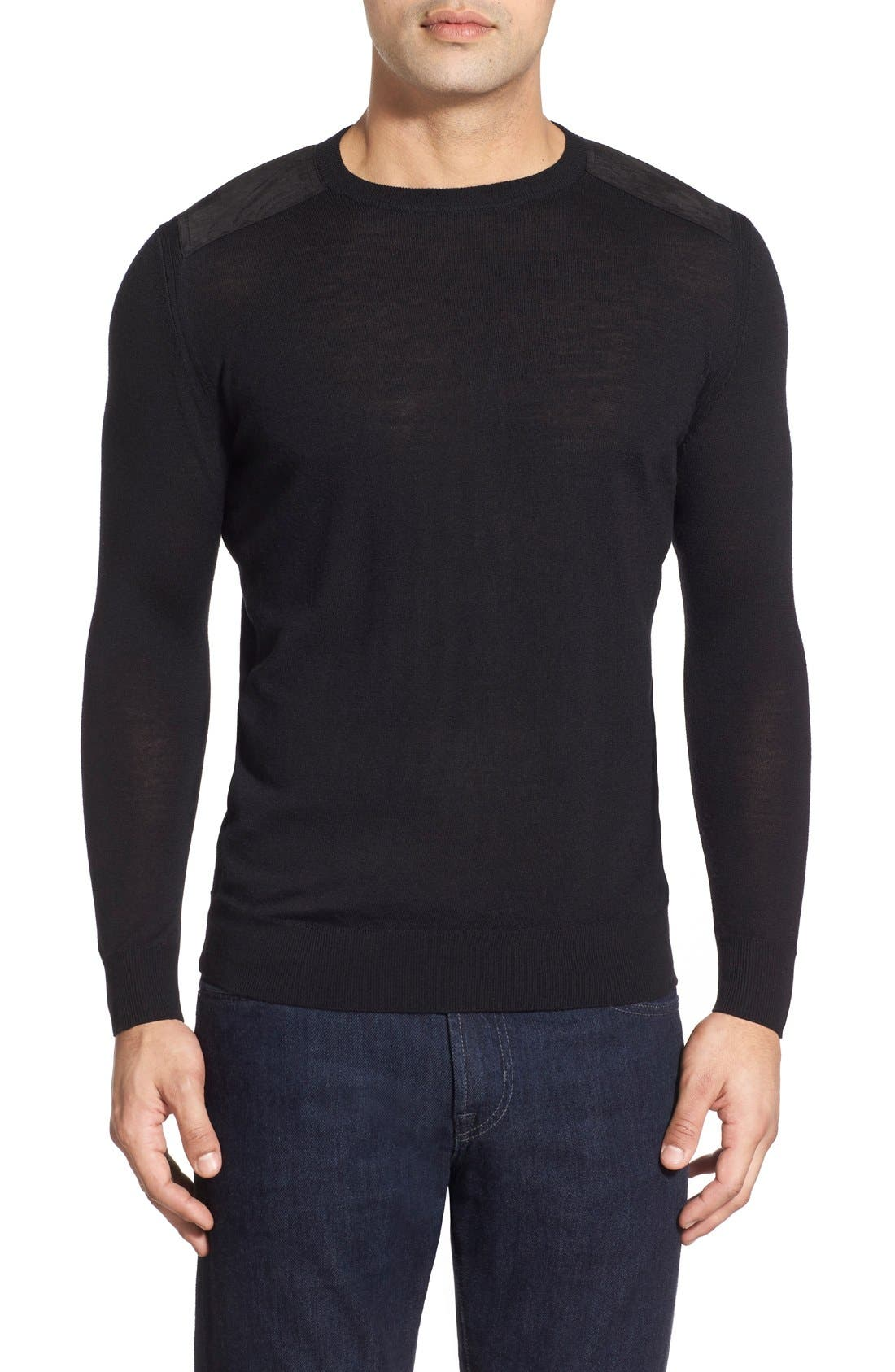 Regular Fit Crewneck Sweater,                         Main,                         color, 001