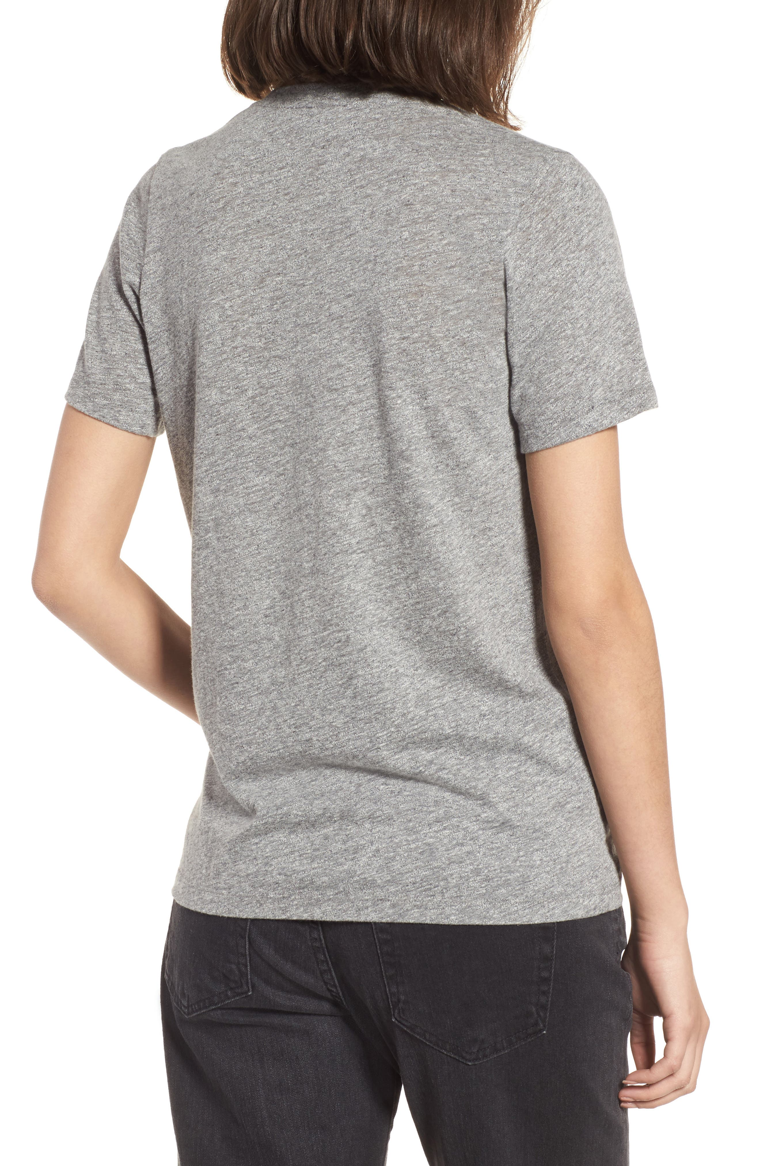 Gray Boyfriend Tee,                             Alternate thumbnail 2, color,                             SPECKLED HEATHER GREY