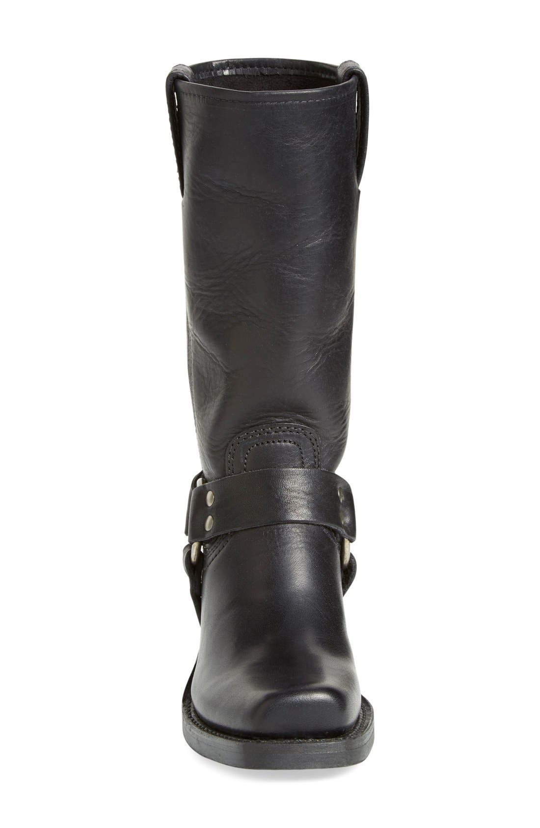 'Harness 12R' Boot,                             Alternate thumbnail 4, color,                             BLACK LEATHER