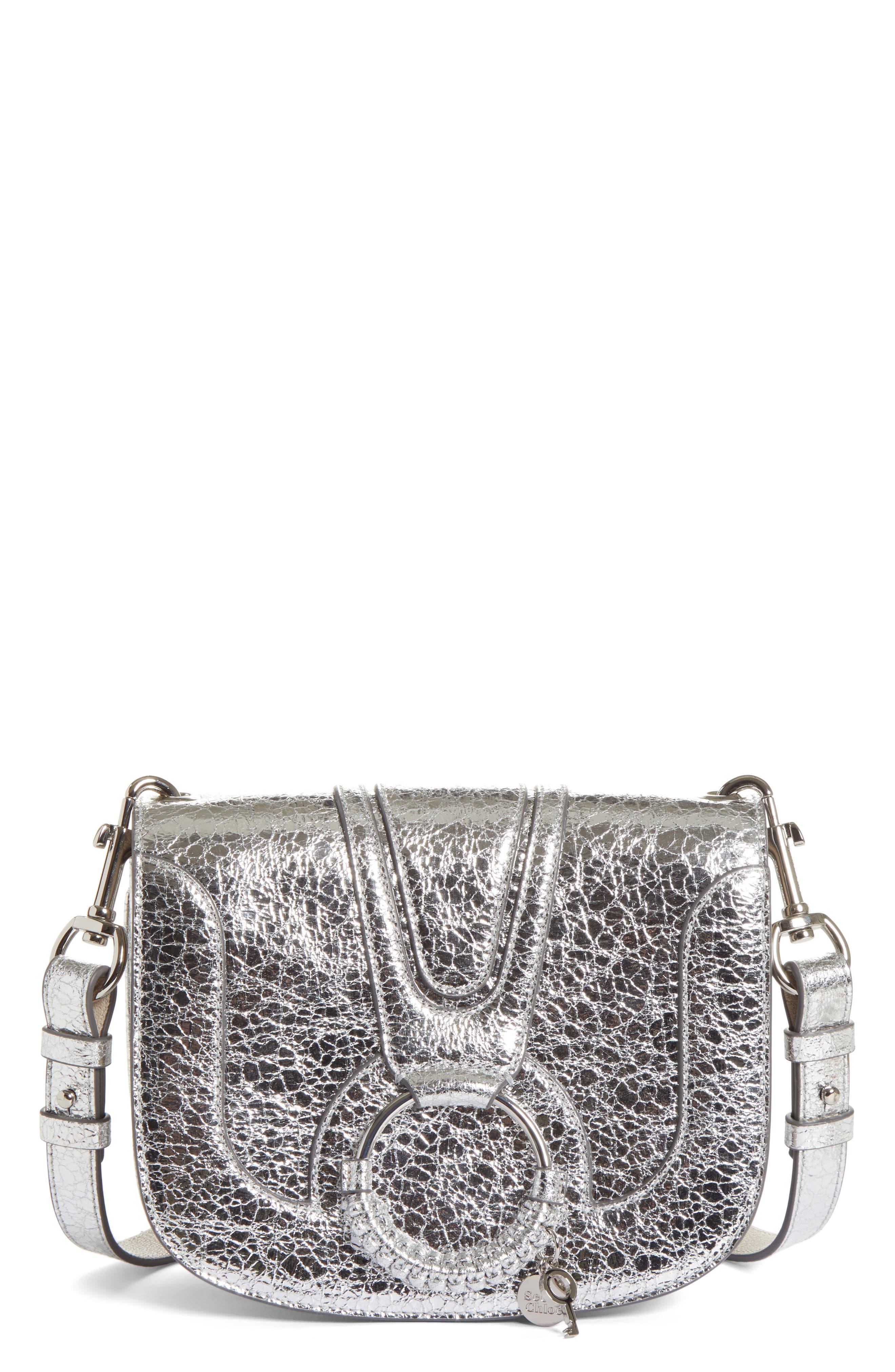 See By Chloe Hana Small Metallic Leather Crossbody Bag - Metallic