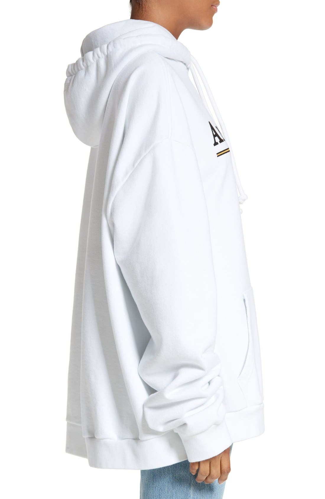 x SPACE Graphic Hoodie,                             Alternate thumbnail 3, color,                             100