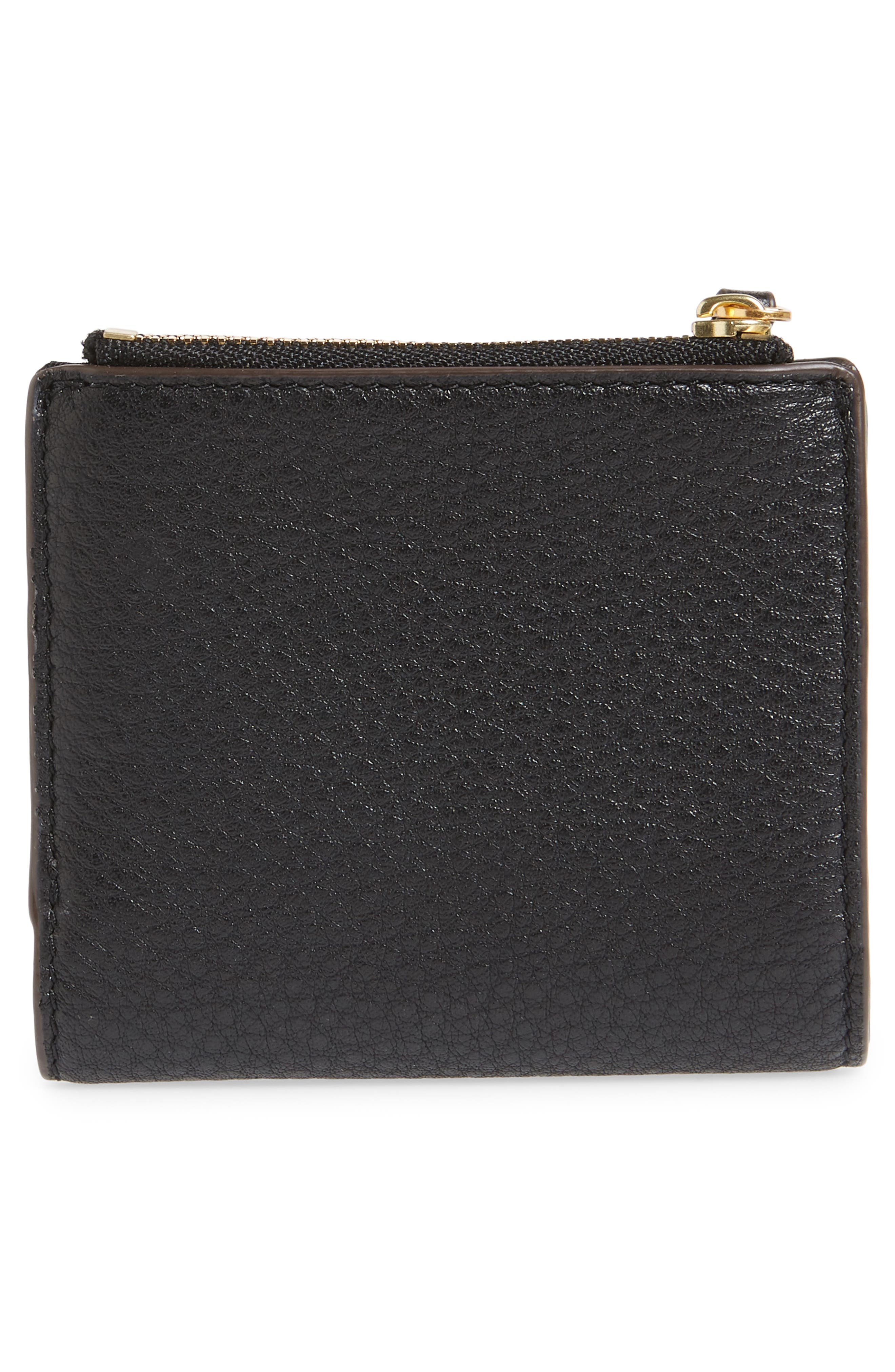 TORY BURCH,                             McGraw Leather Bifold Wallet,                             Alternate thumbnail 4, color,                             001