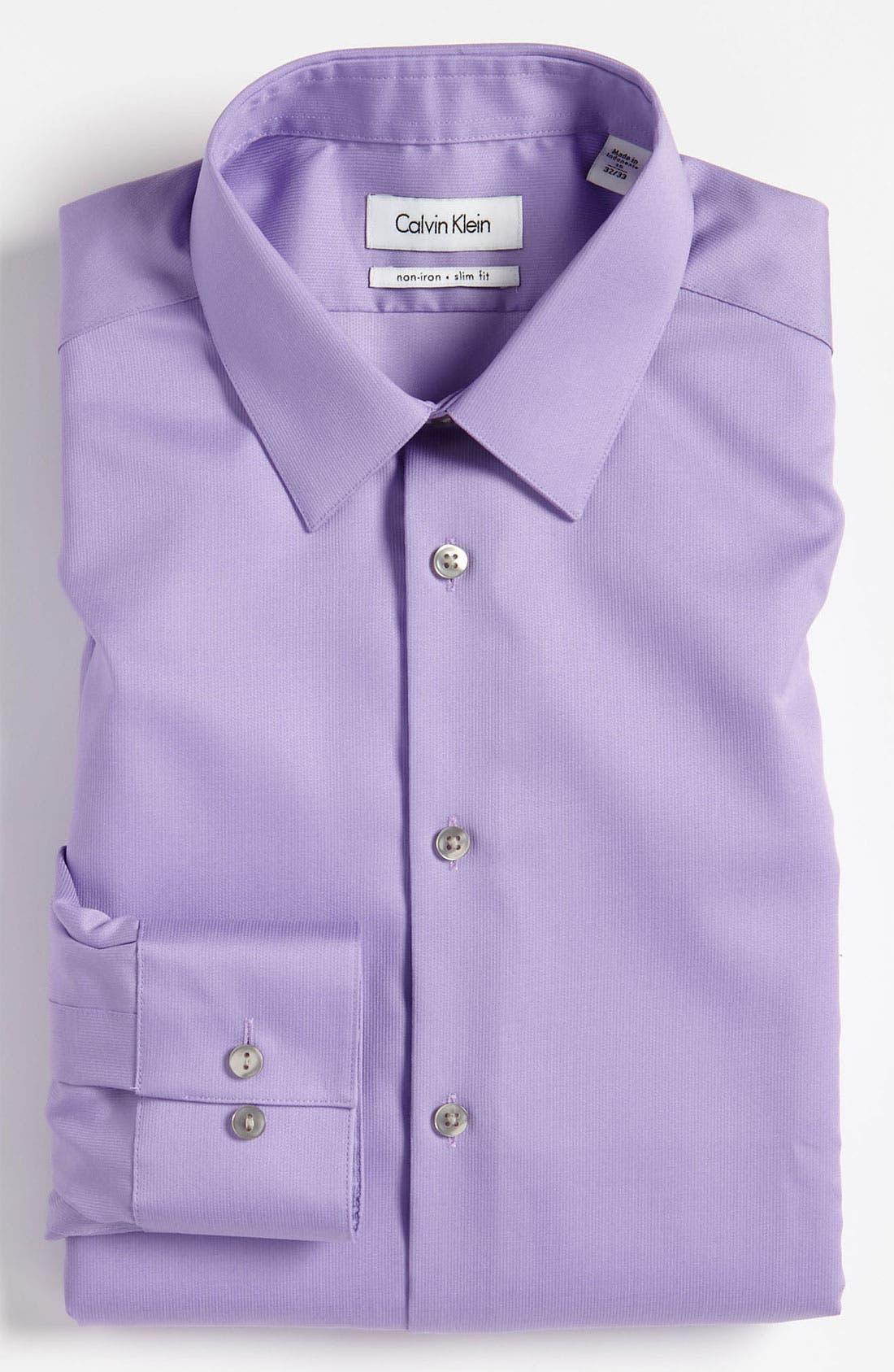 Slim Fit Non-Iron Dress Shirt,                             Main thumbnail 5, color,