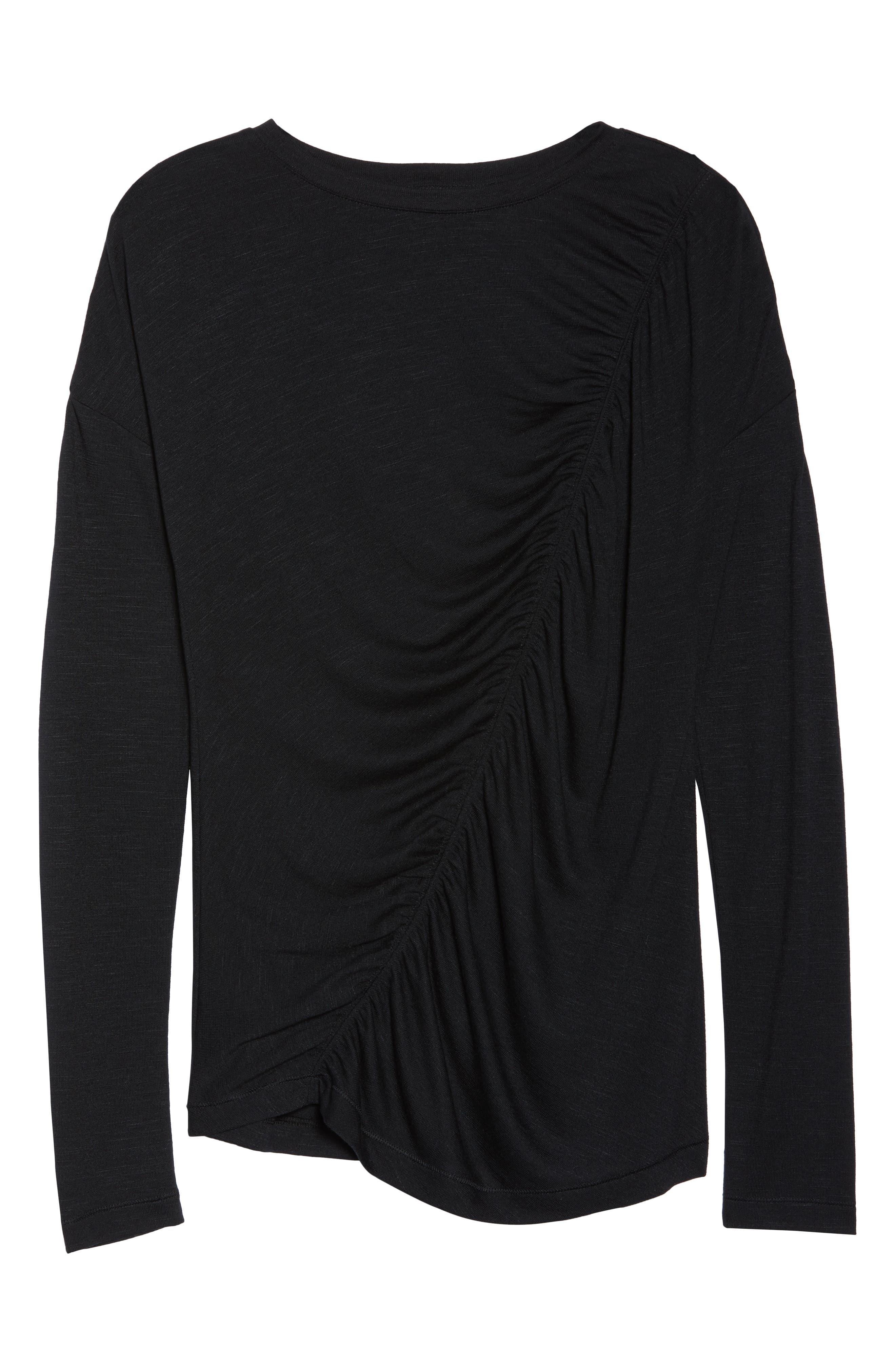 So Graceful Ruched Tee,                             Alternate thumbnail 7, color,                             BLACK
