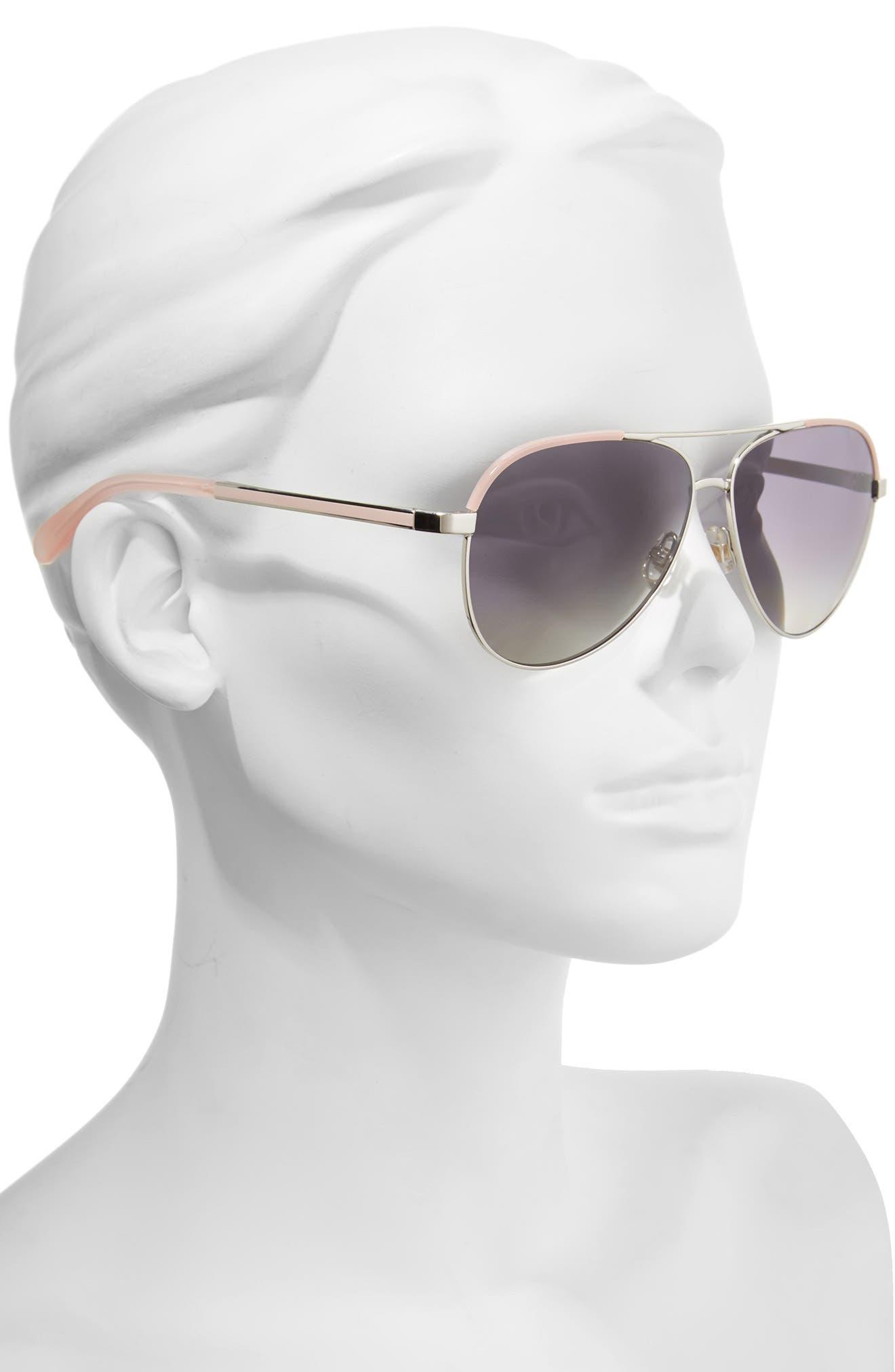 amarissa 59mm polarized aviator sunglasses,                             Alternate thumbnail 2, color,                             040