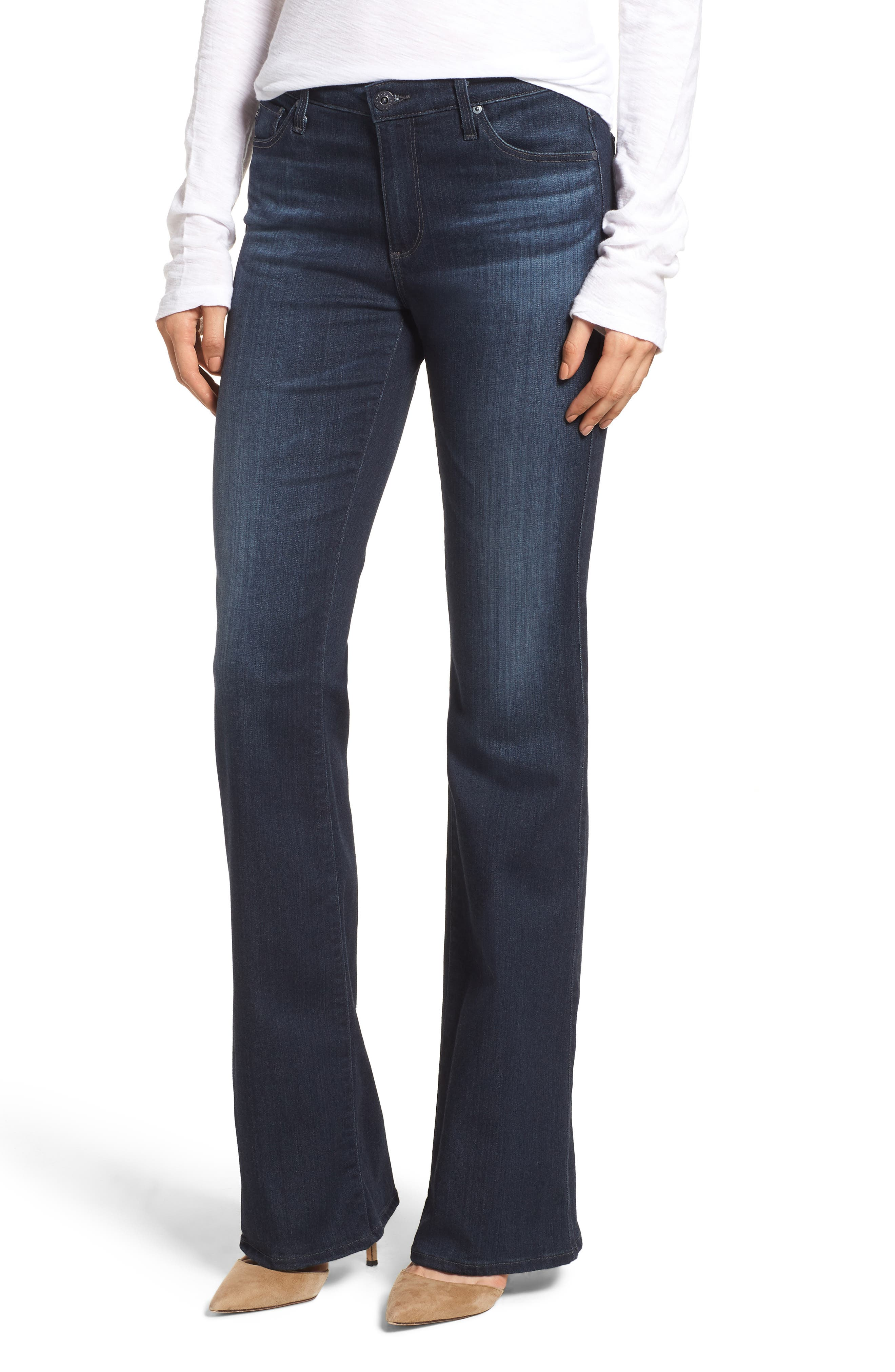 'The New Angel' Bootcut Jeans,                             Main thumbnail 1, color,                             BROOKS