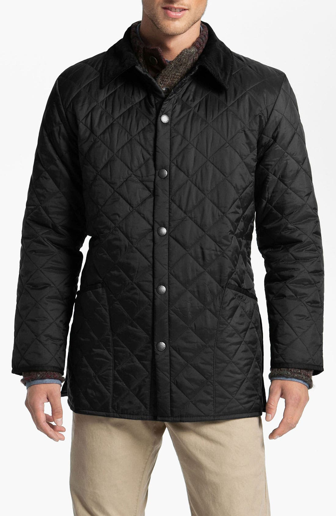 'Liddesdale' Quilted Jacket, Main, color, 001