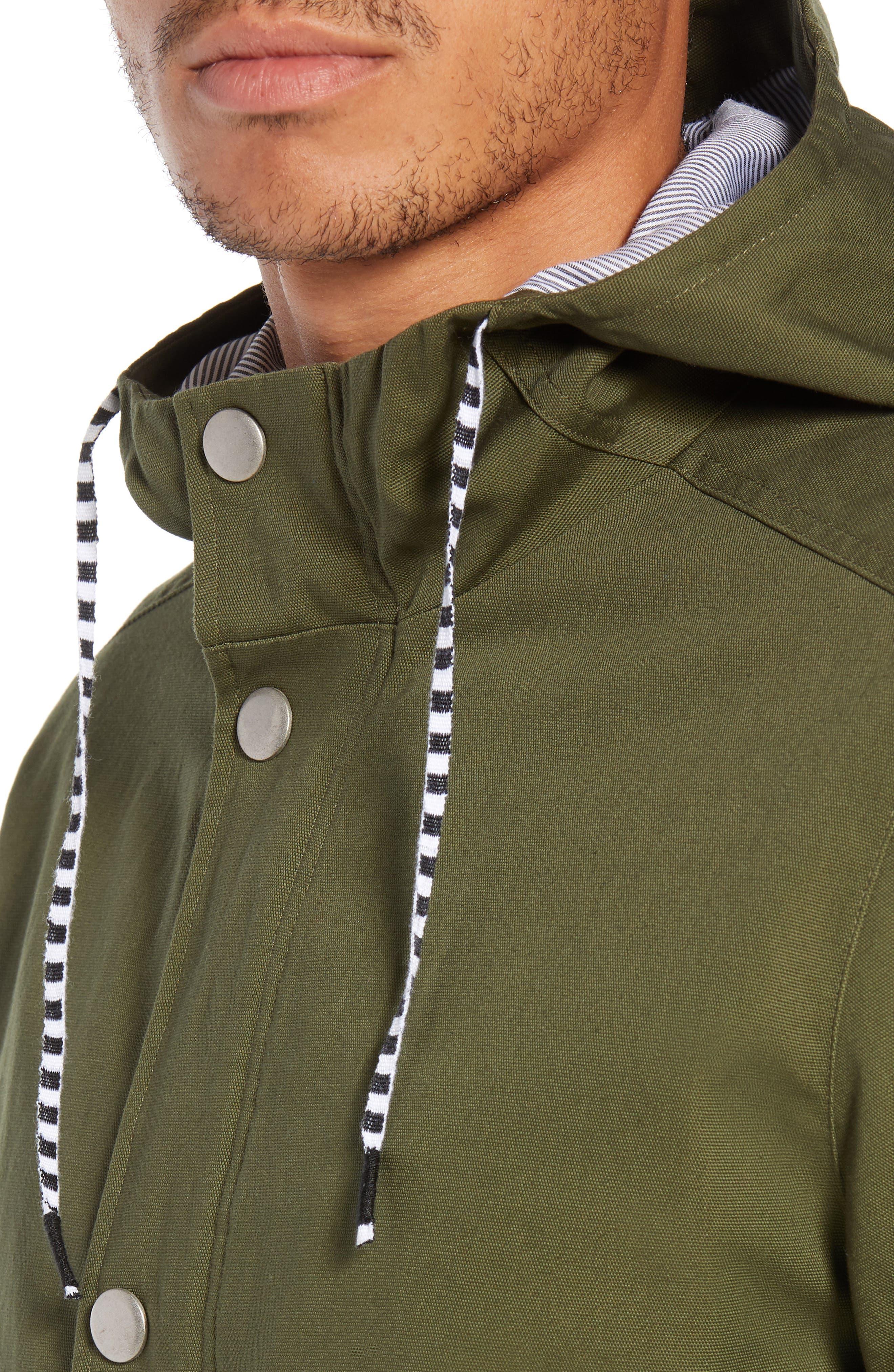 Mac A-Frame Jacket,                             Alternate thumbnail 4, color,                             OLIVE CANVAS