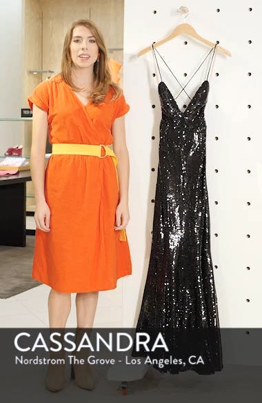 The Auden Sequin Embellished Gown, sales video thumbnail