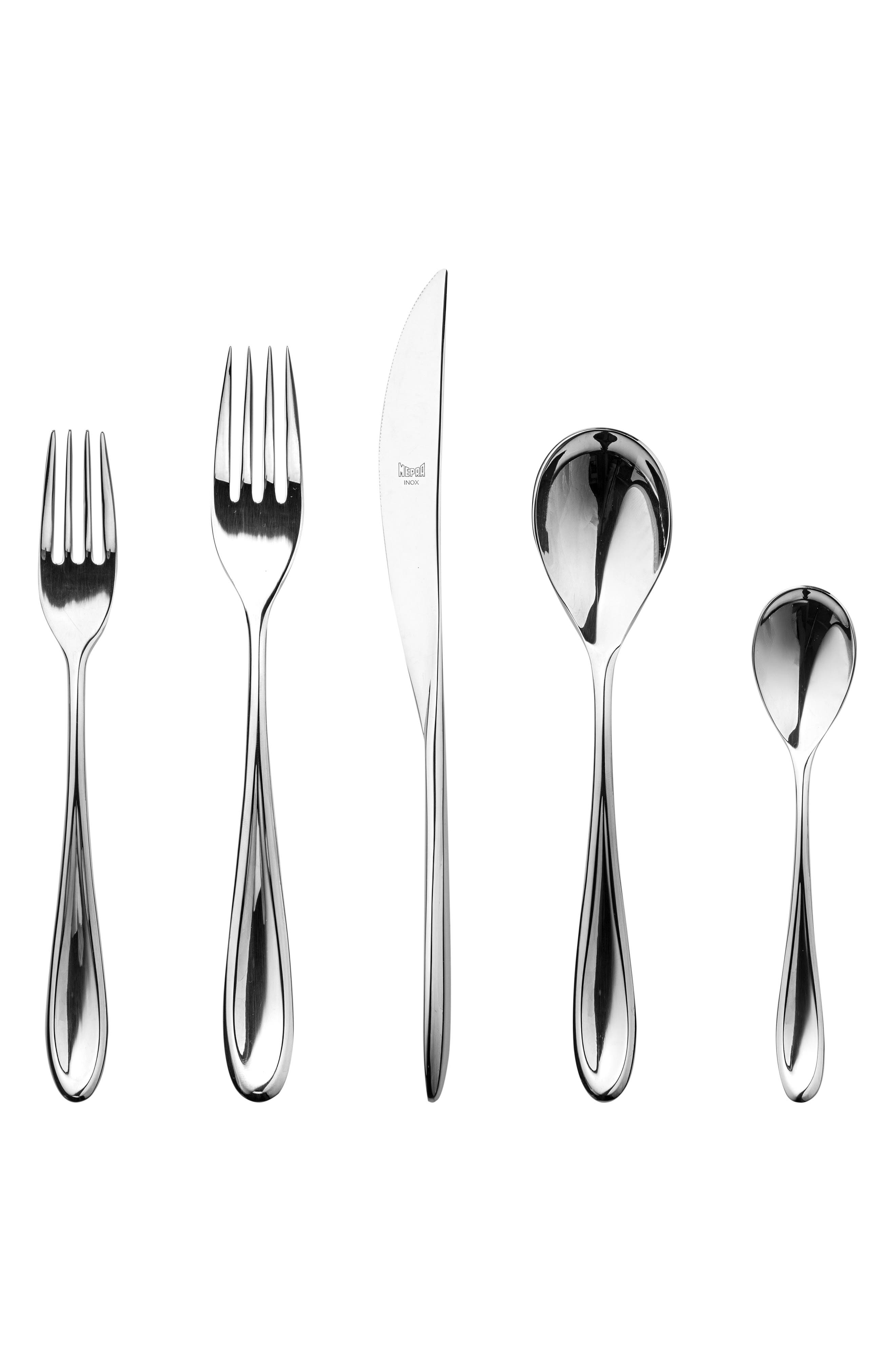 5-Piece Place Setting,                         Main,                         color, STAINLESS SHINY