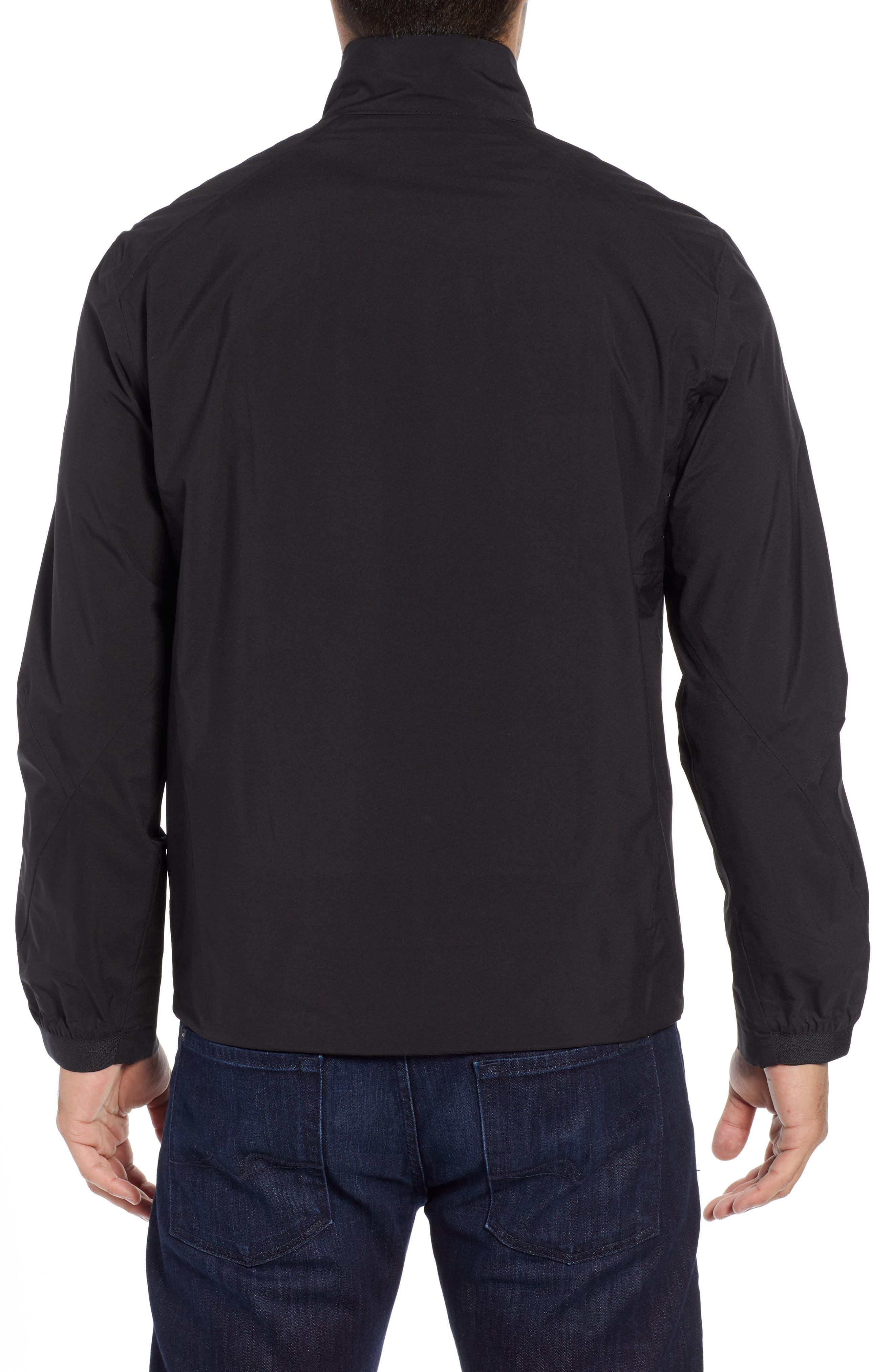 Mock Neck Jacket,                             Alternate thumbnail 2, color,                             BLACK