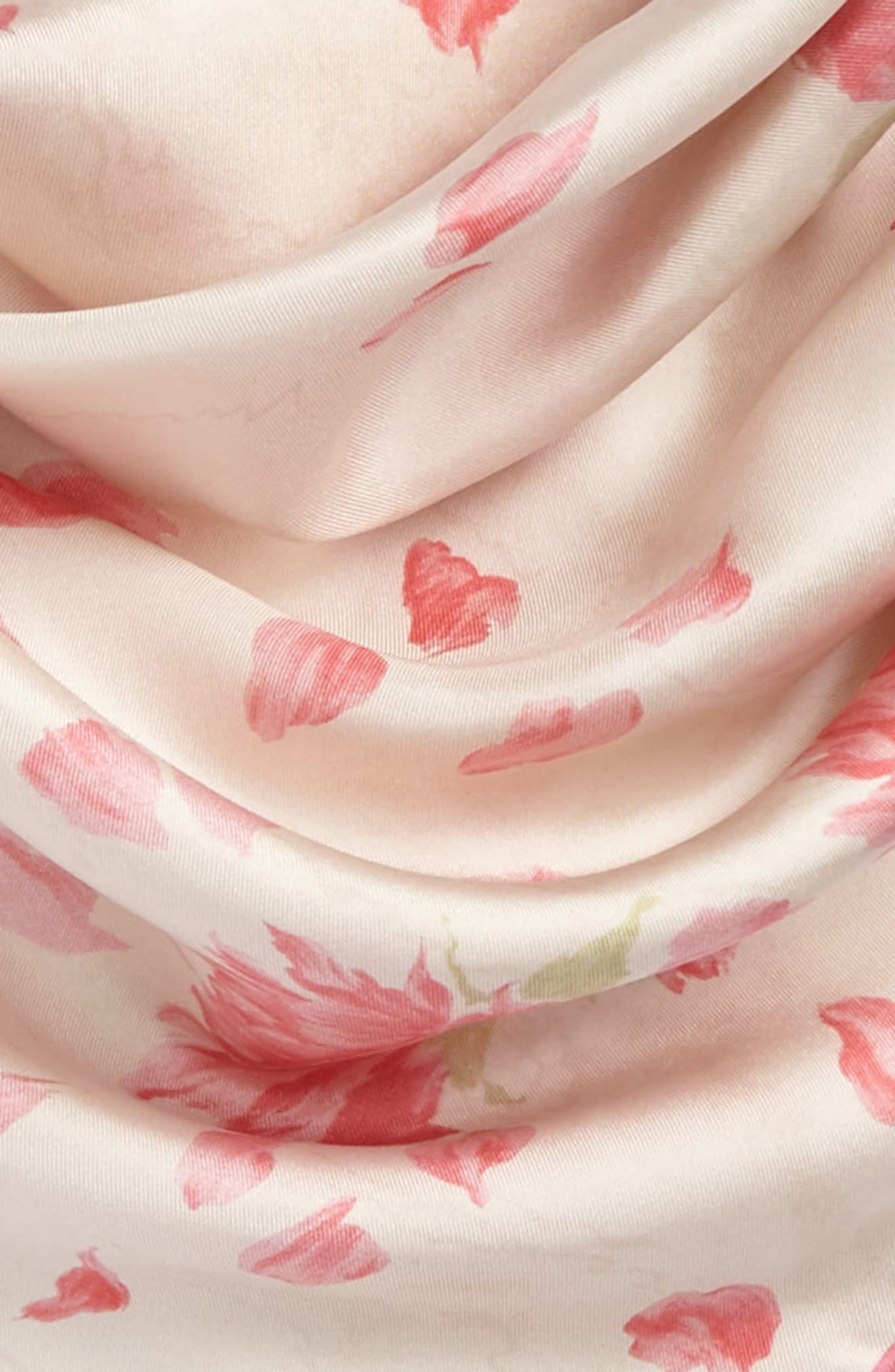 GARAVANI Rose Re-Edition Square Silk Scarf,                             Alternate thumbnail 3, color,                             650