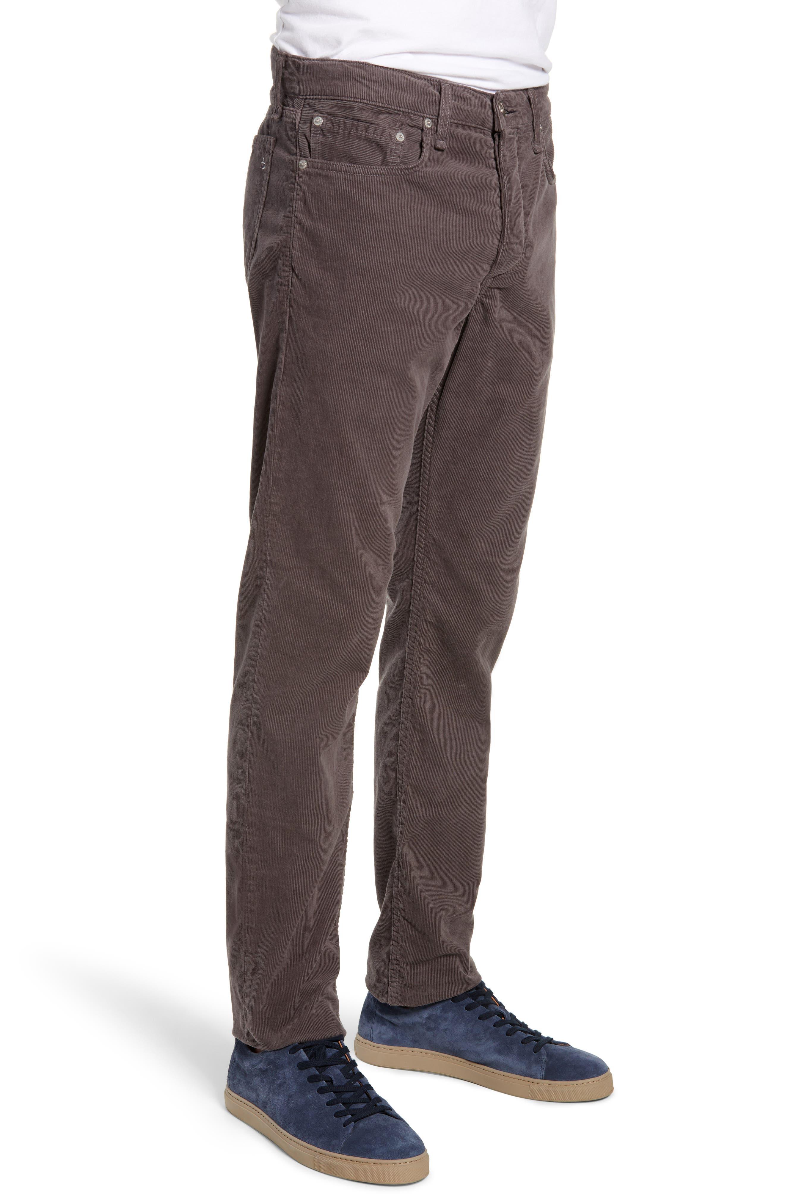 Slim Fit Corduroy Pants,                             Alternate thumbnail 3, color,                             CHARCOAL