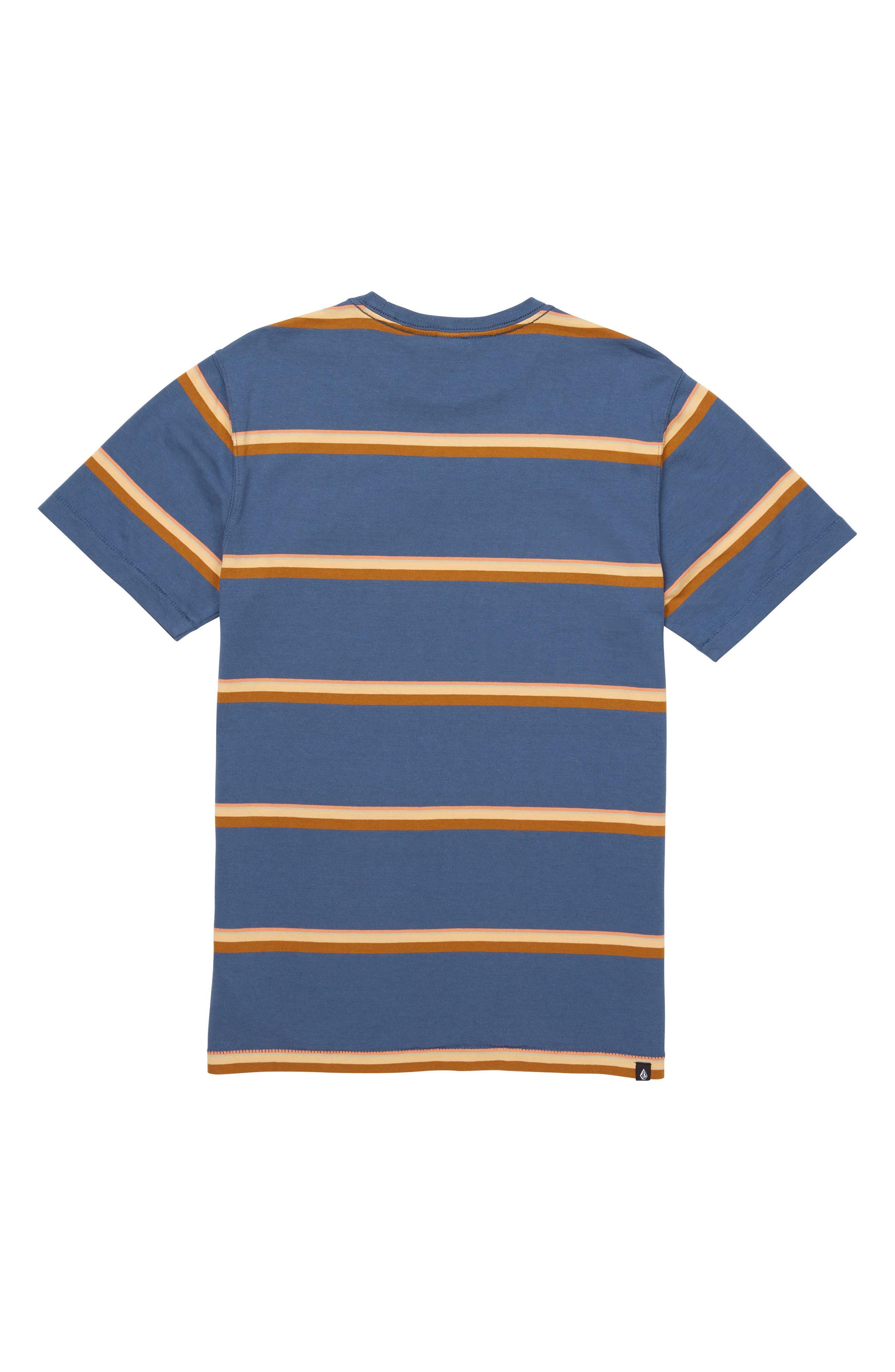 Sheldon Stripe Crewneck T-Shirt,                             Alternate thumbnail 2, color,                             463